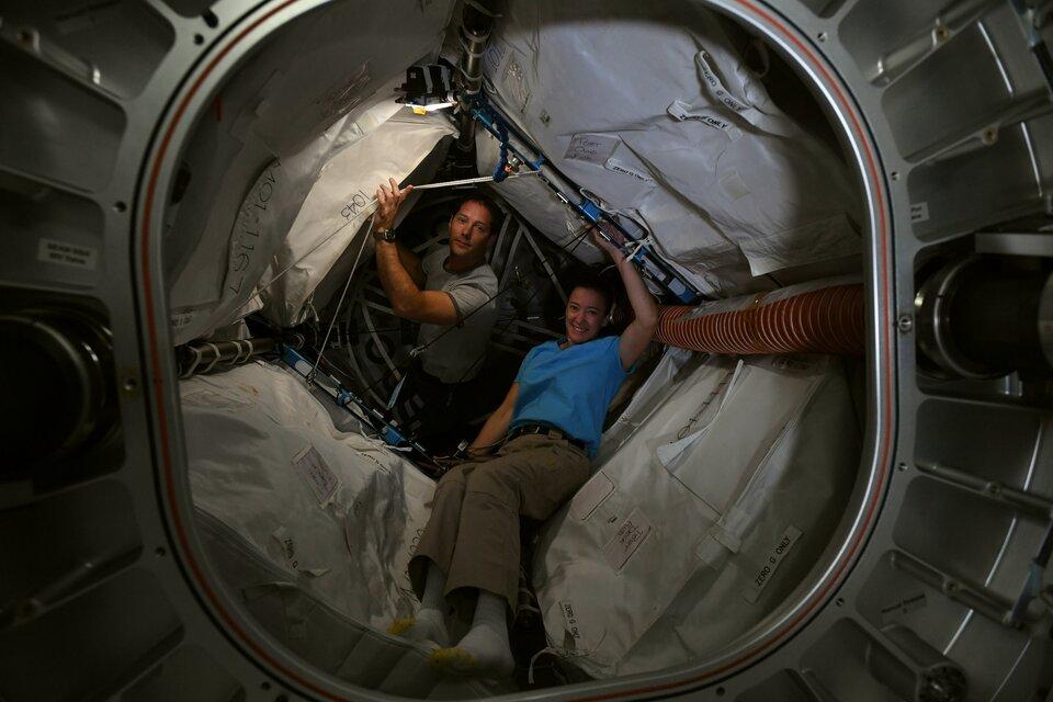Thomas et Megan dans le module BEAM