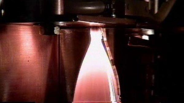 Hot firing of worlds first 3Dprinted platinum thruster