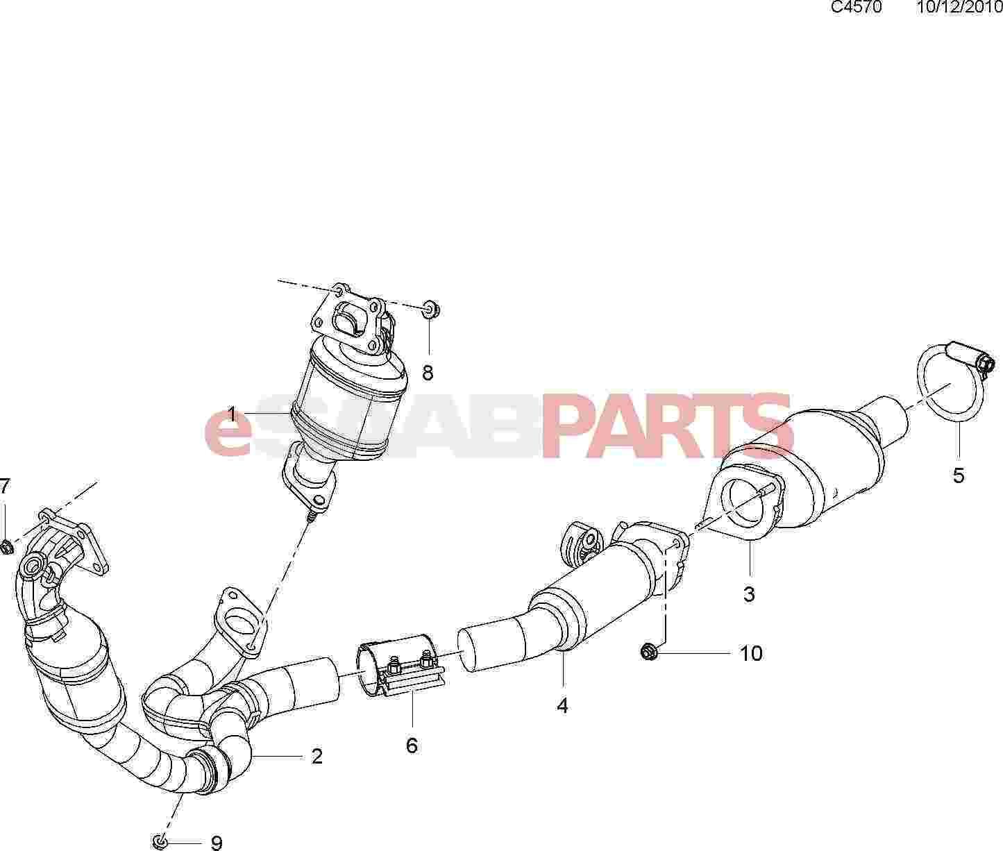 Saab Three Way Catalytic Converter