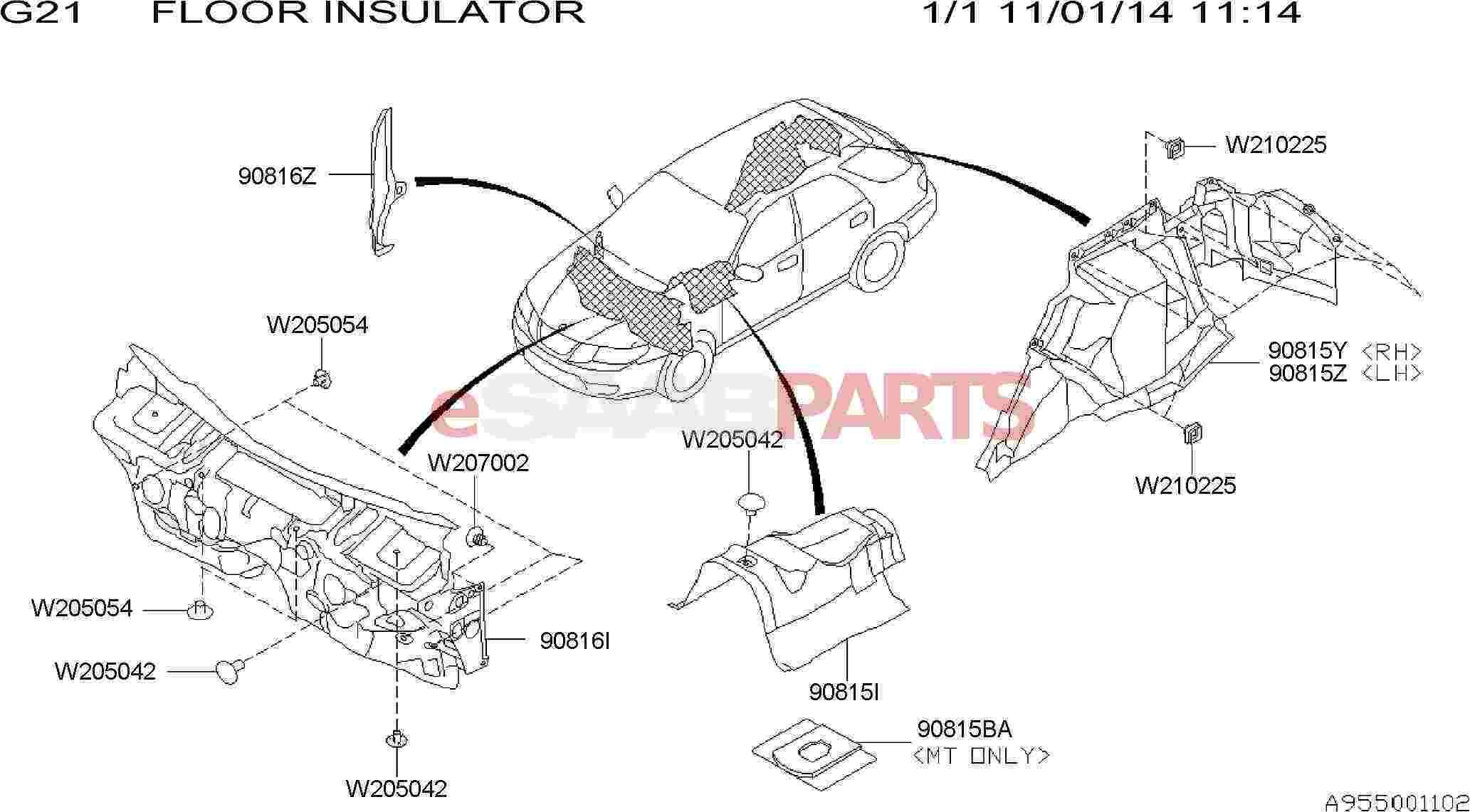 Saab Insulator Rear Wheel Apron Left