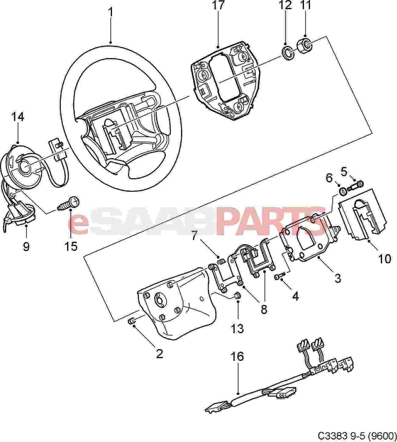 Steering Wheel Parts Diagram