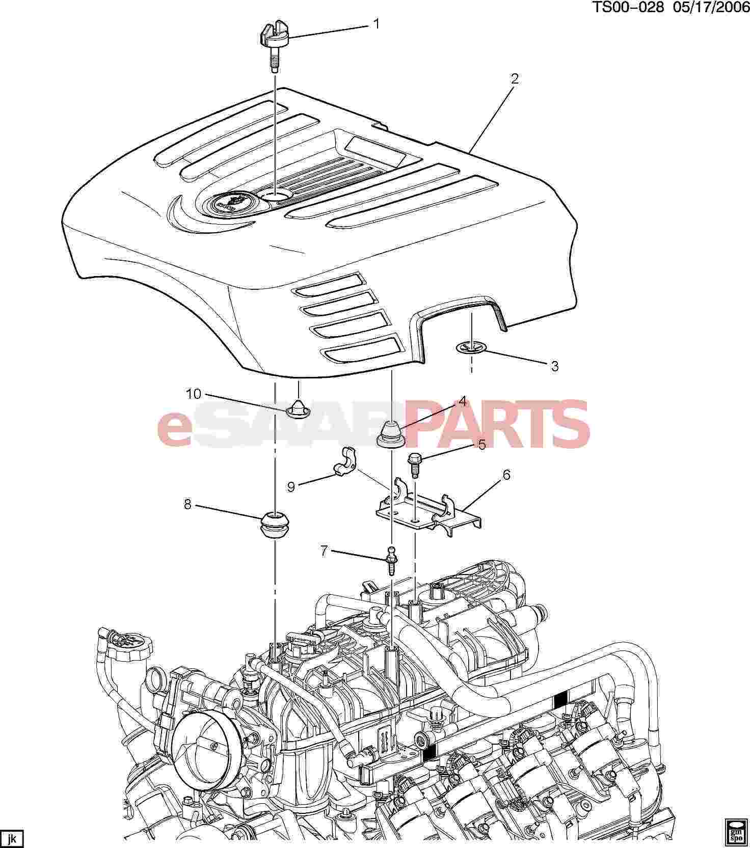 Saab Grommet Upper Intake Manifold Sight Shield