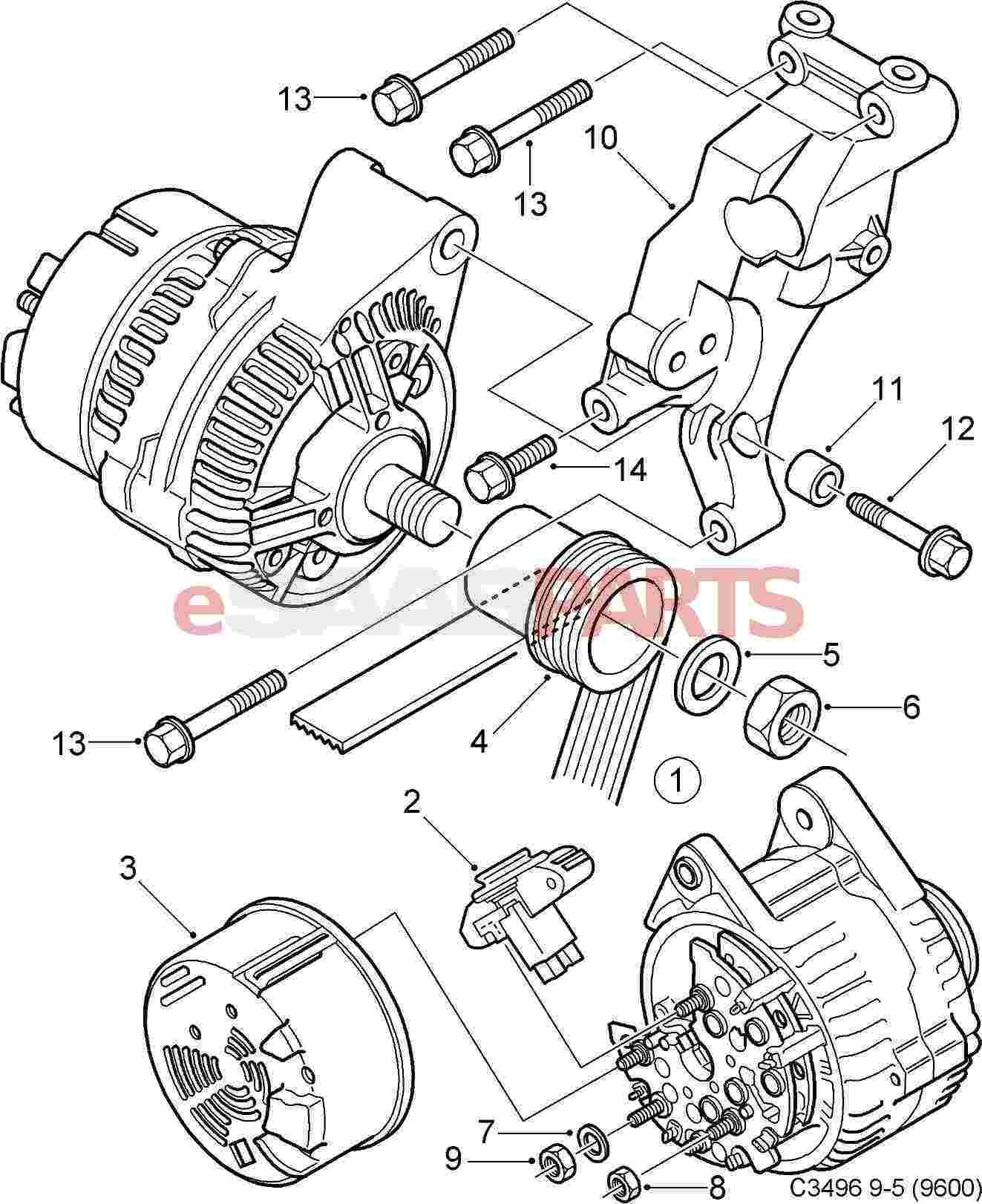 Headlamp Wiring Harness For Saab 9 3 2003