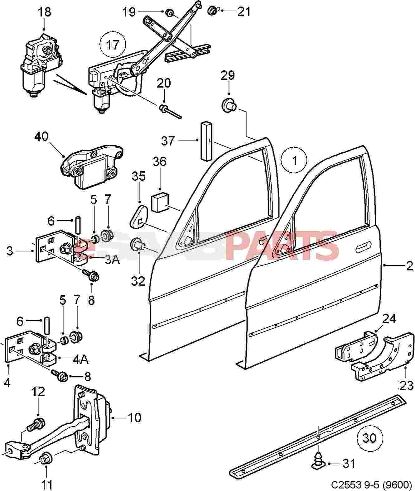 Car Exterior Diagram Car Door Parts