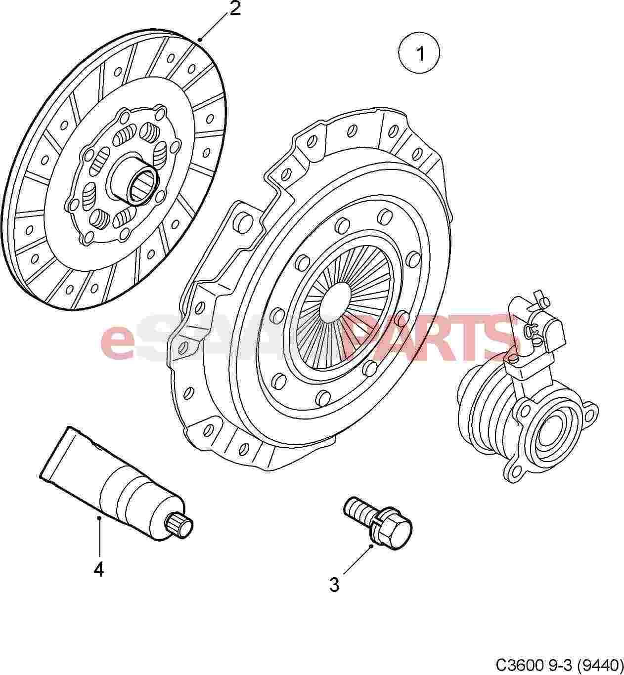 Saab Clutch Kit 9 3 Xwd 6 Speed 9 5ng