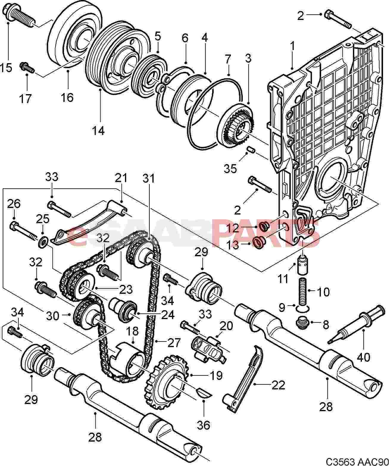 Saab Crankshaft Seal