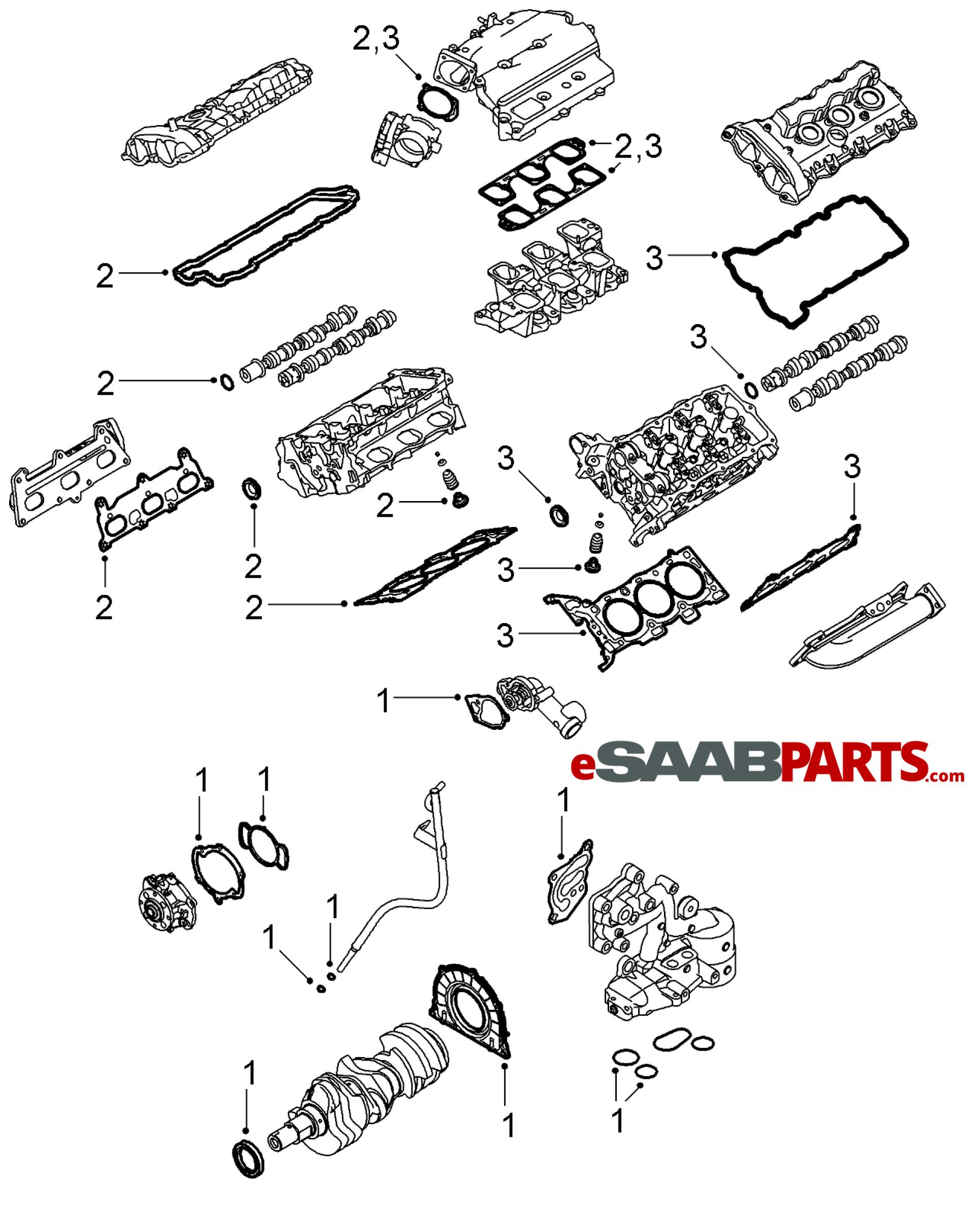Saab Cylinder Head Gasket