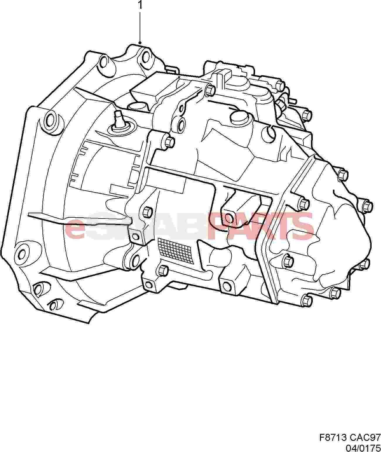 Saab Fm55 B10 5 Speed Manual Transmission
