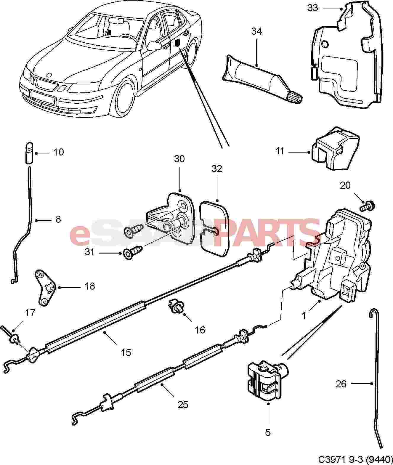 Saab 96 Model Body Parts