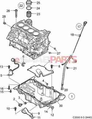 [24461500] SAAB Oil Level Sensor (20T)  Genuine Saab