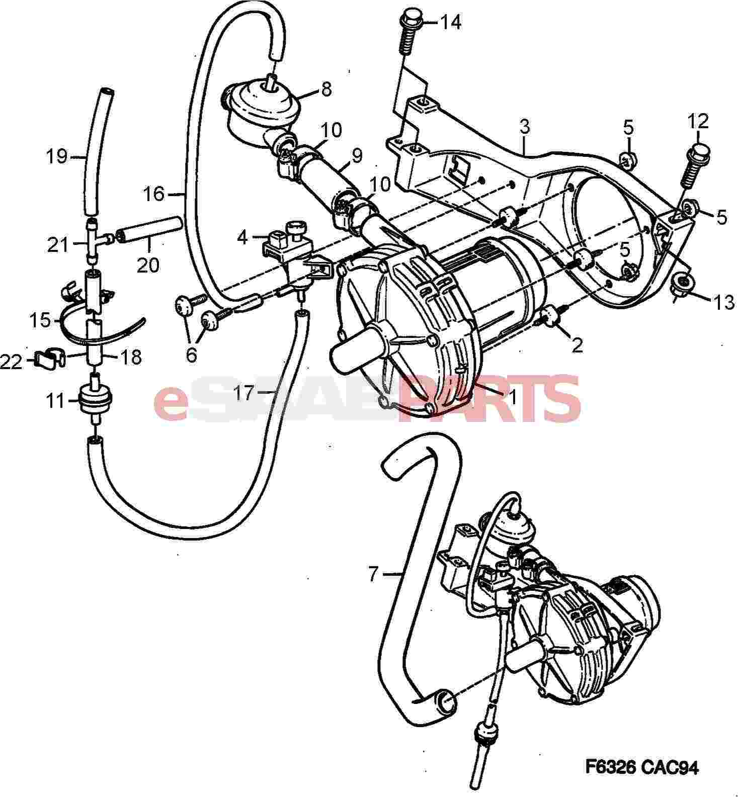 Saab Secondary Air Injection Control Valve