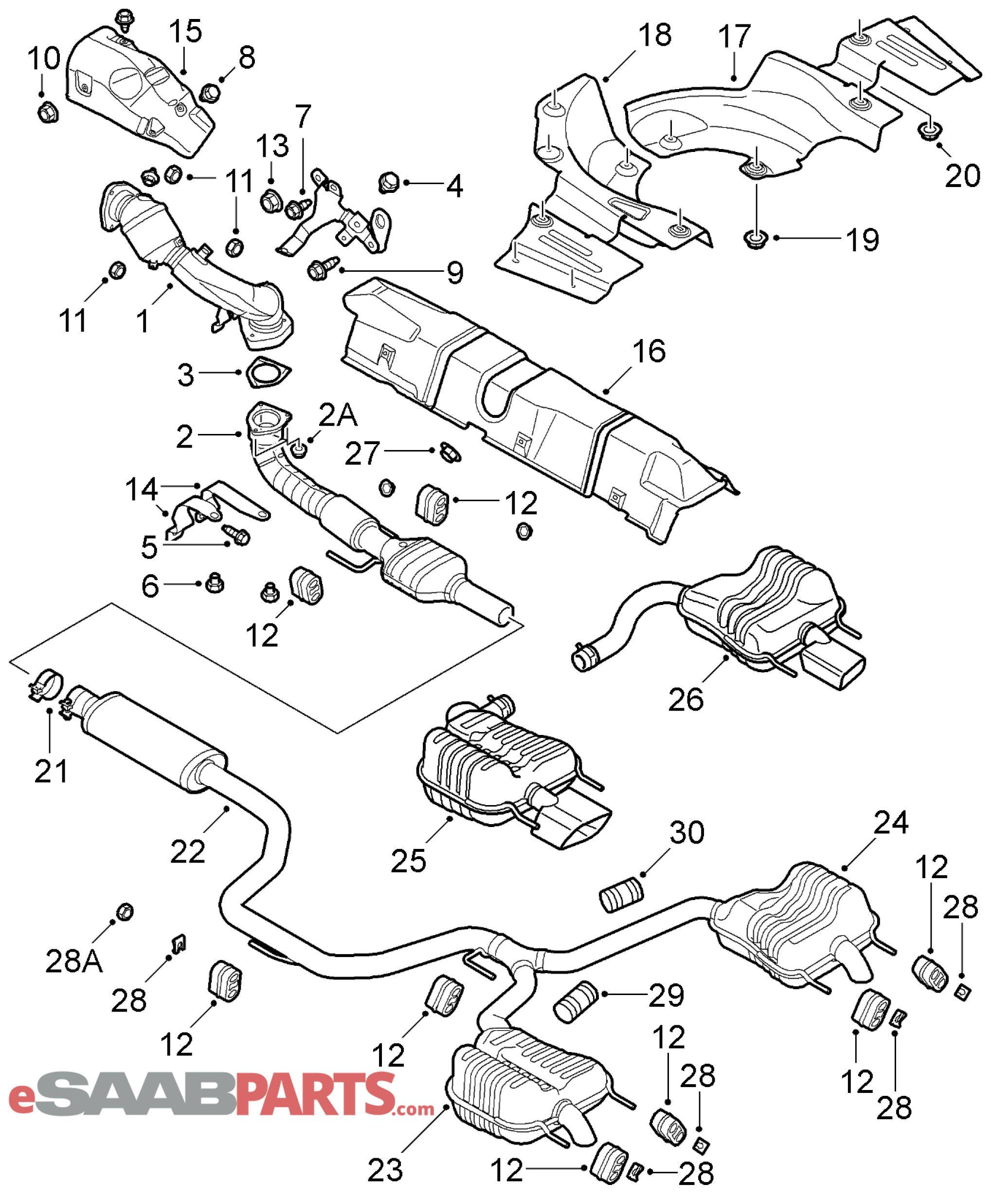 Saab Exhaust Hanger Mount Rubber