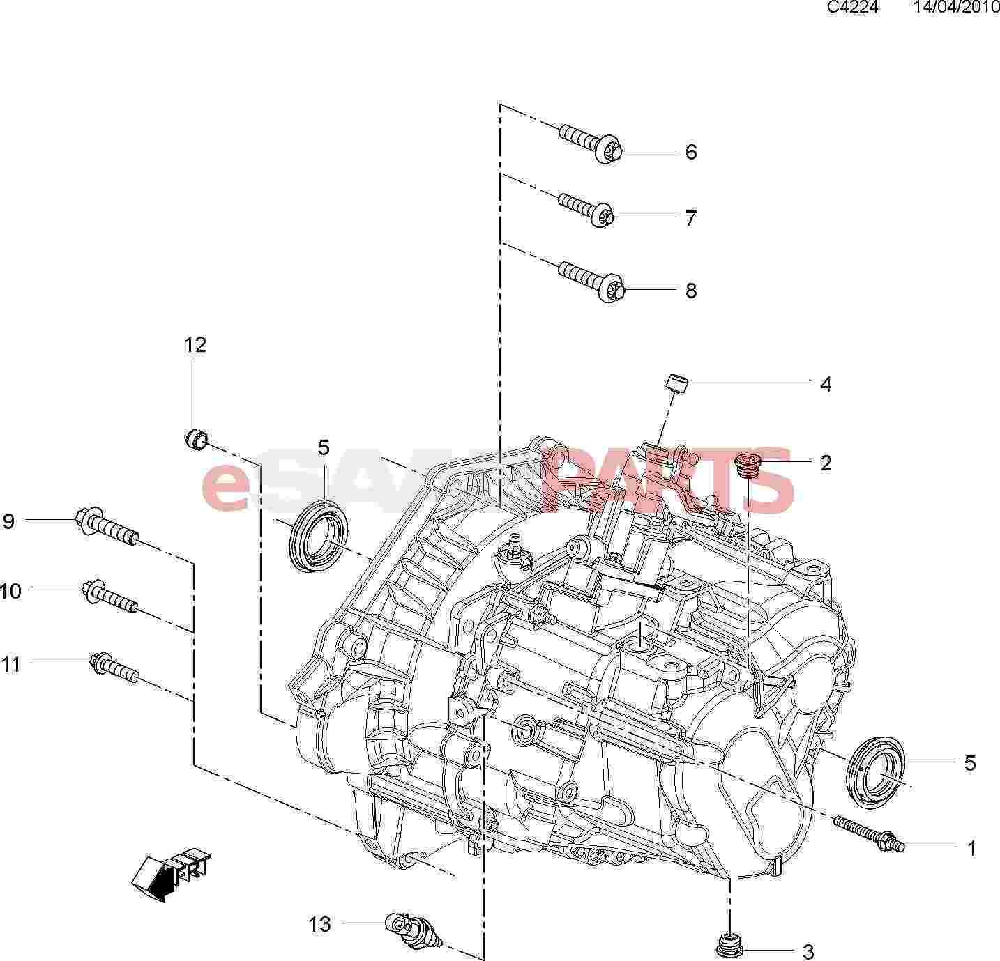 Saab Axle Seal Manual Transmission