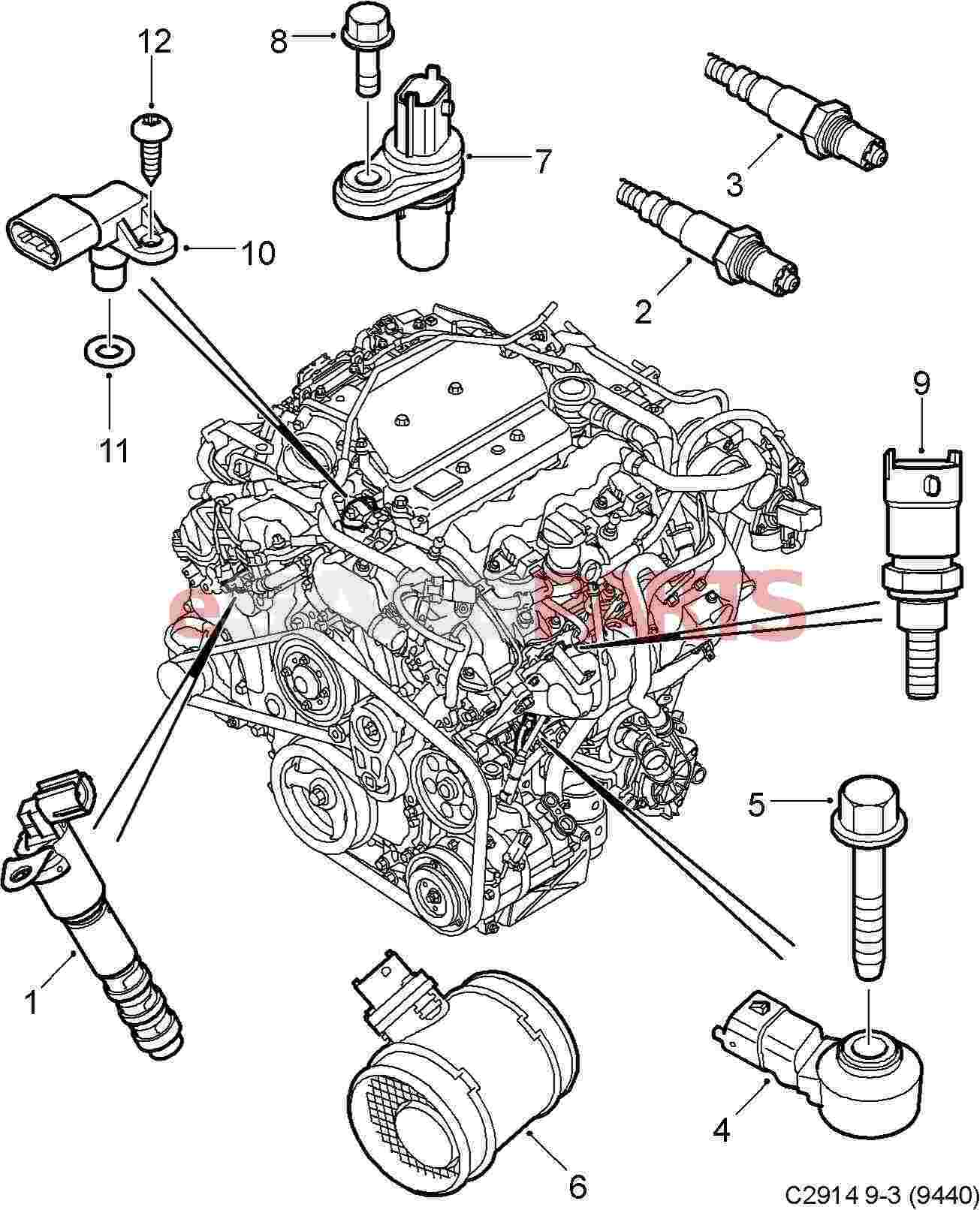 1999 Saab 9 5 Engine Diagram