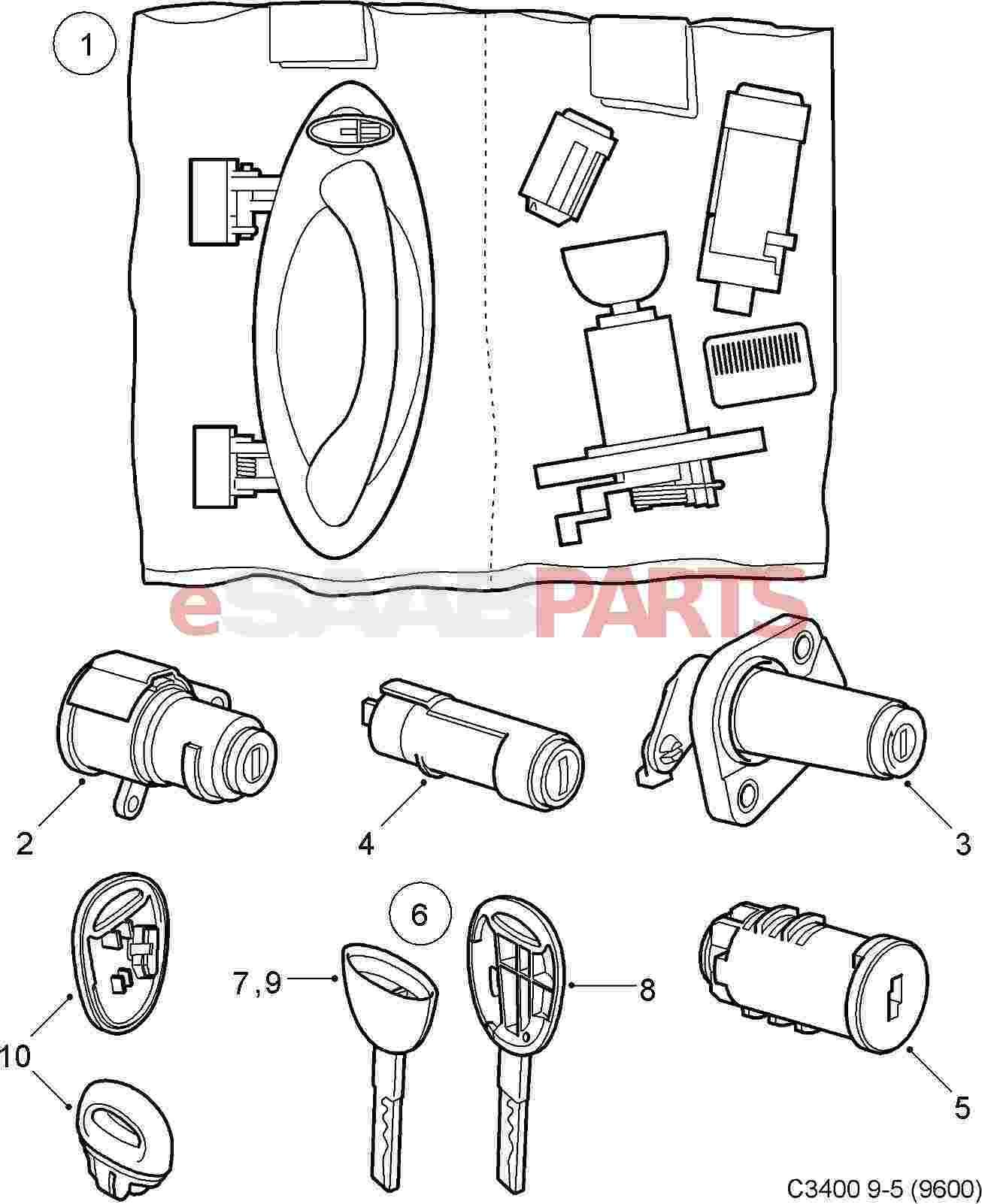 Saab Lock Cylinder