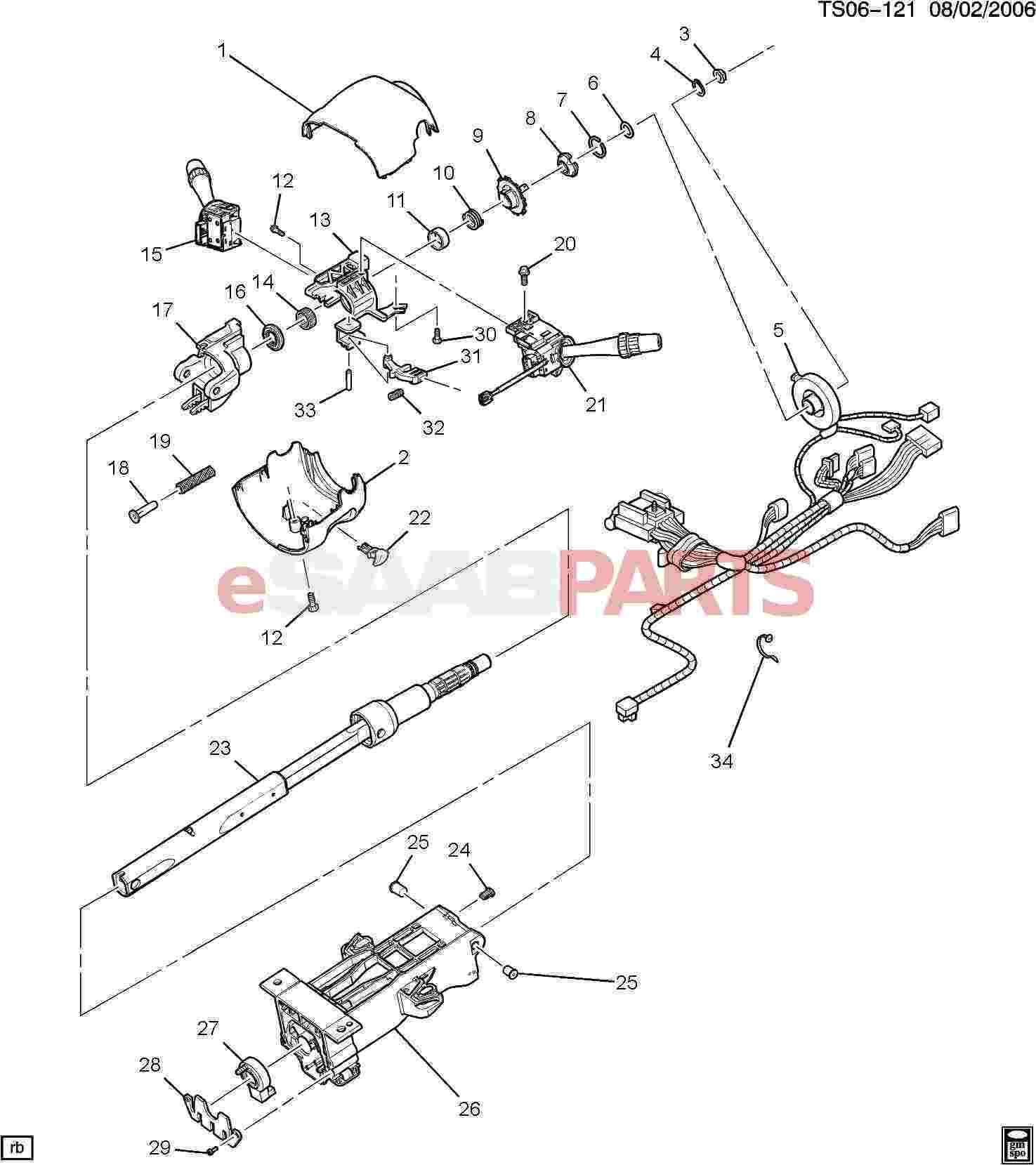 94 Honda Steering Column Diagram