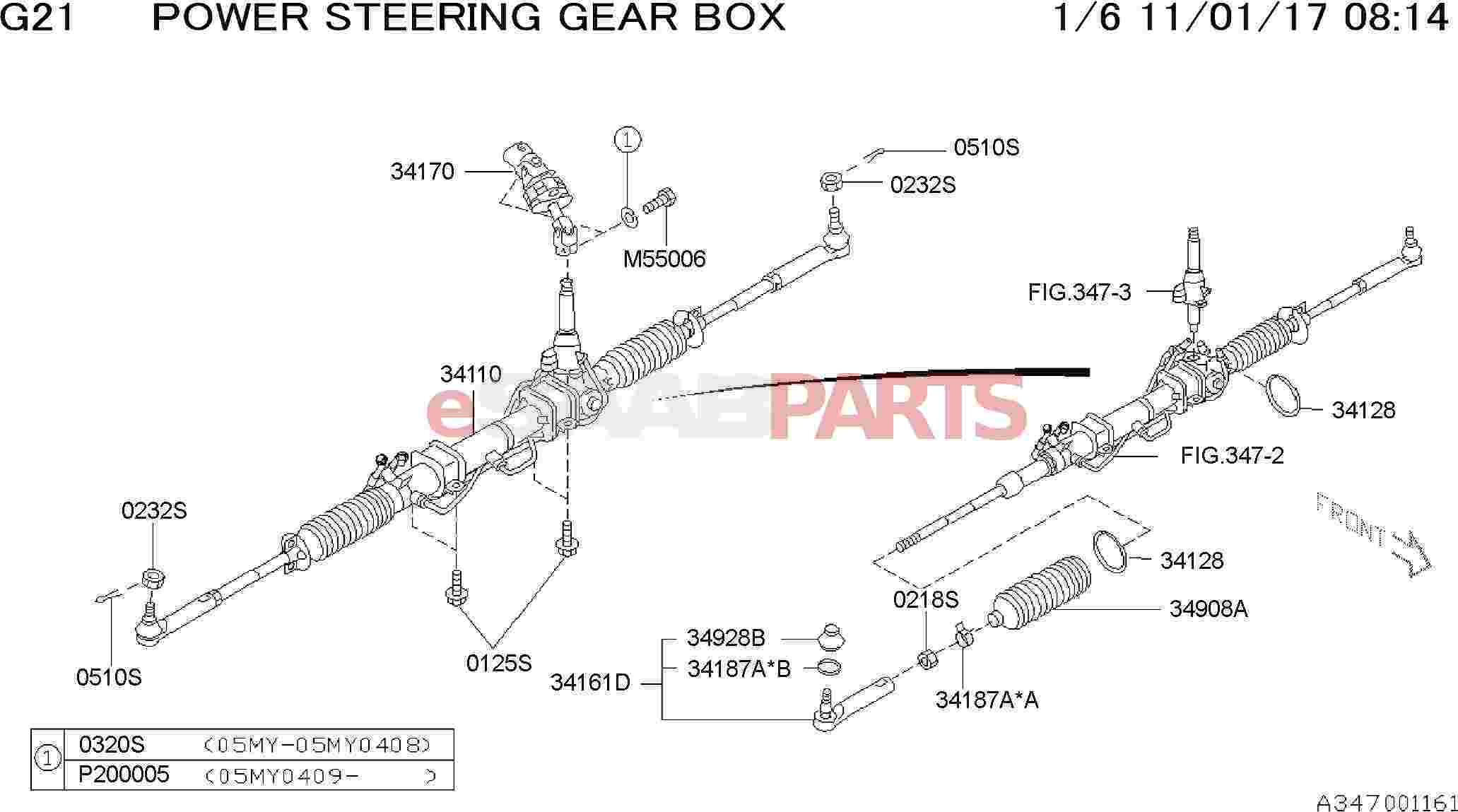 Saab Universal Joint Assembly Steering