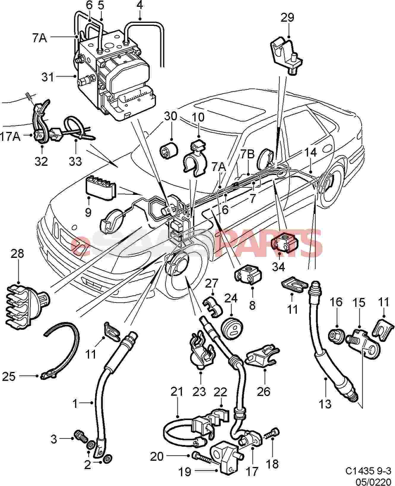 Saab Wheel Speed Sensor