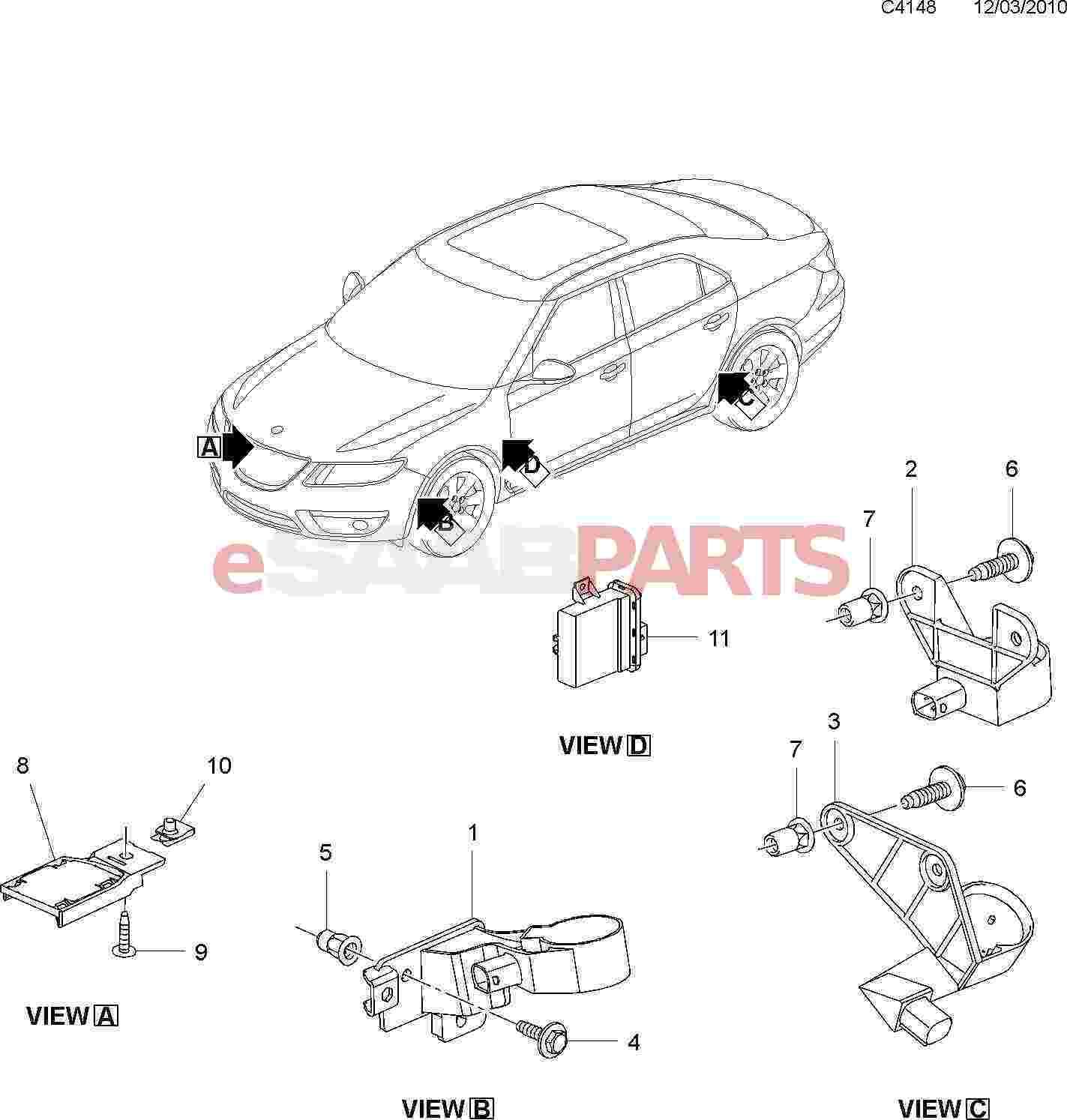 Saab Retaining Plate