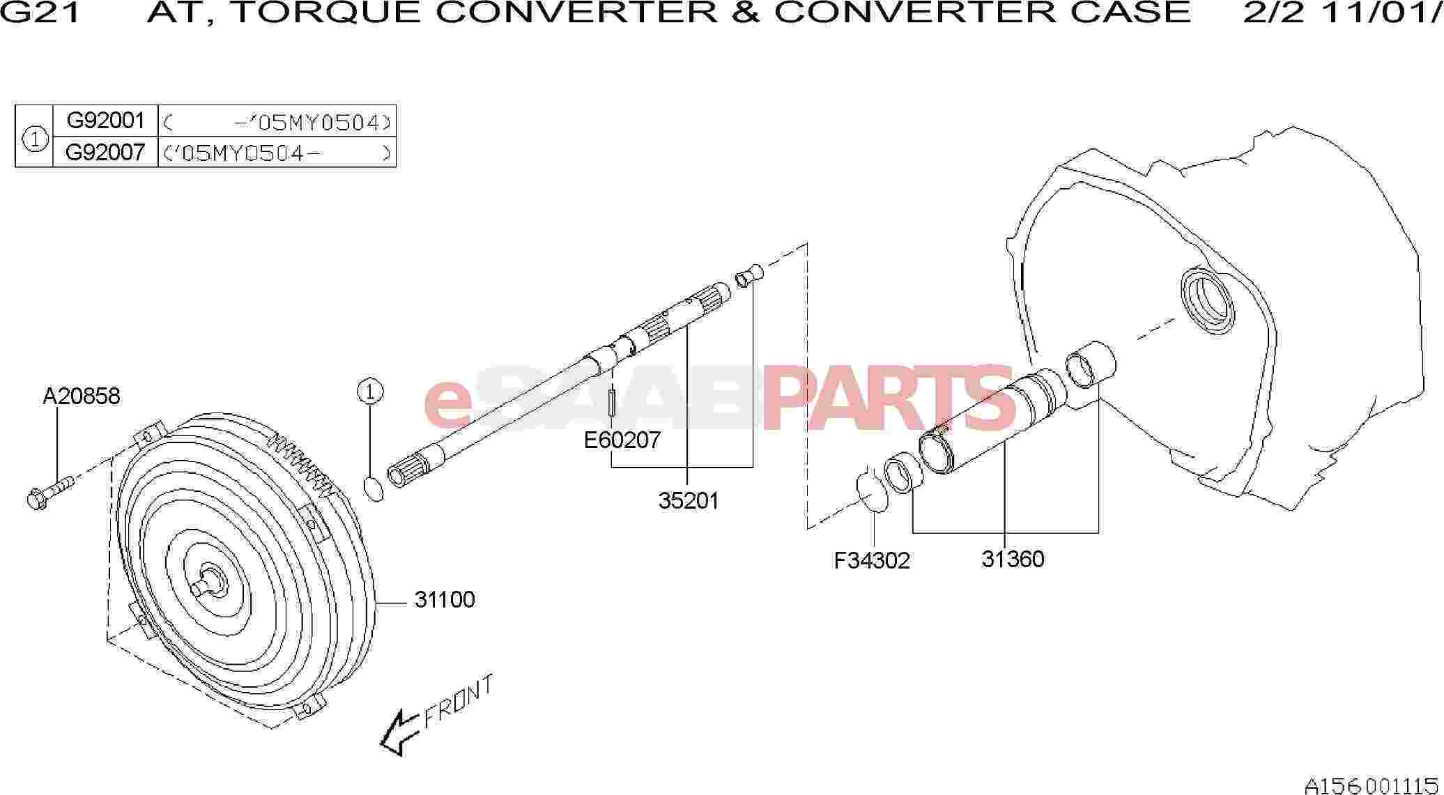 Saab Converter Assembly Torque