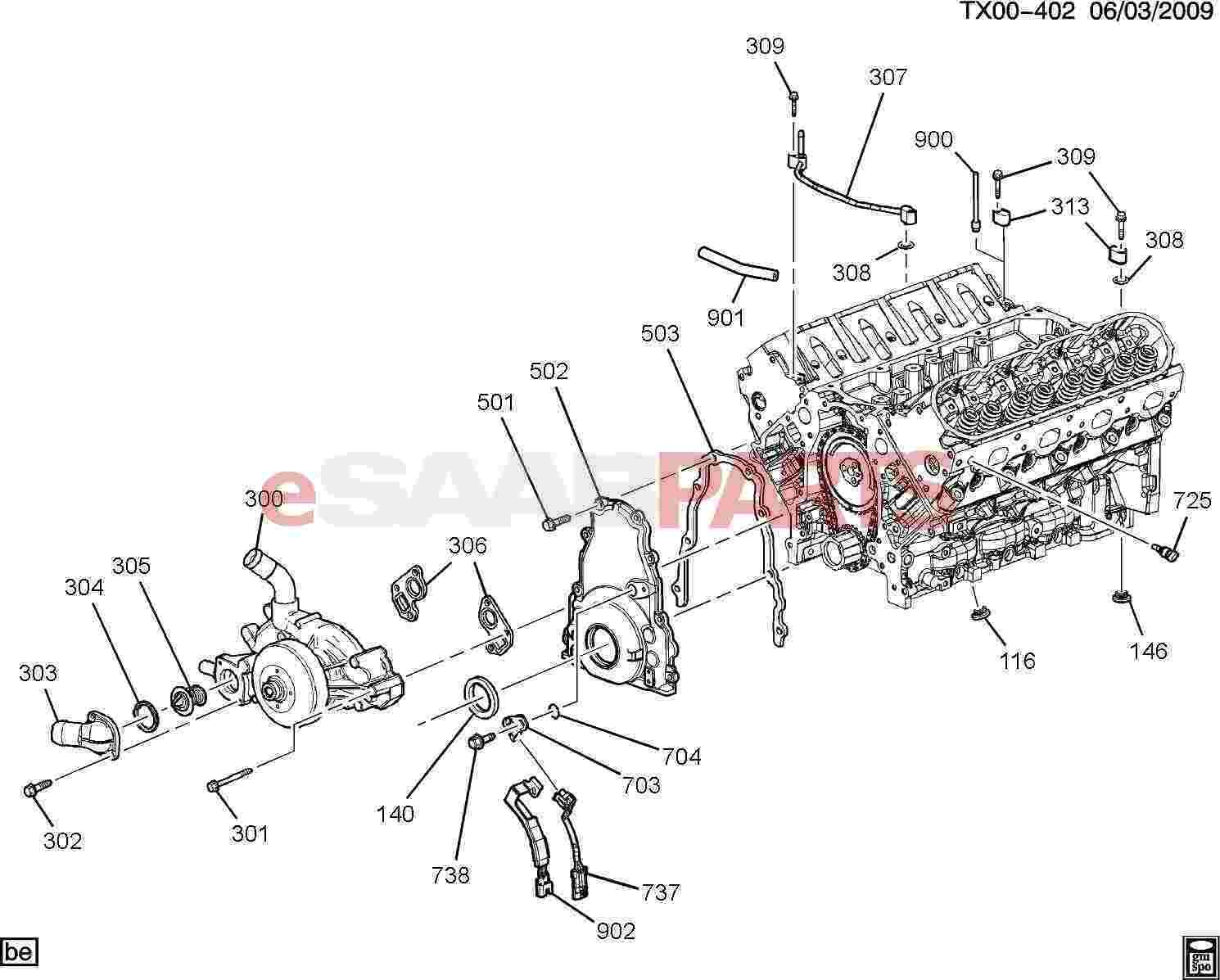 Saab Plug Engine Cool Air Bl