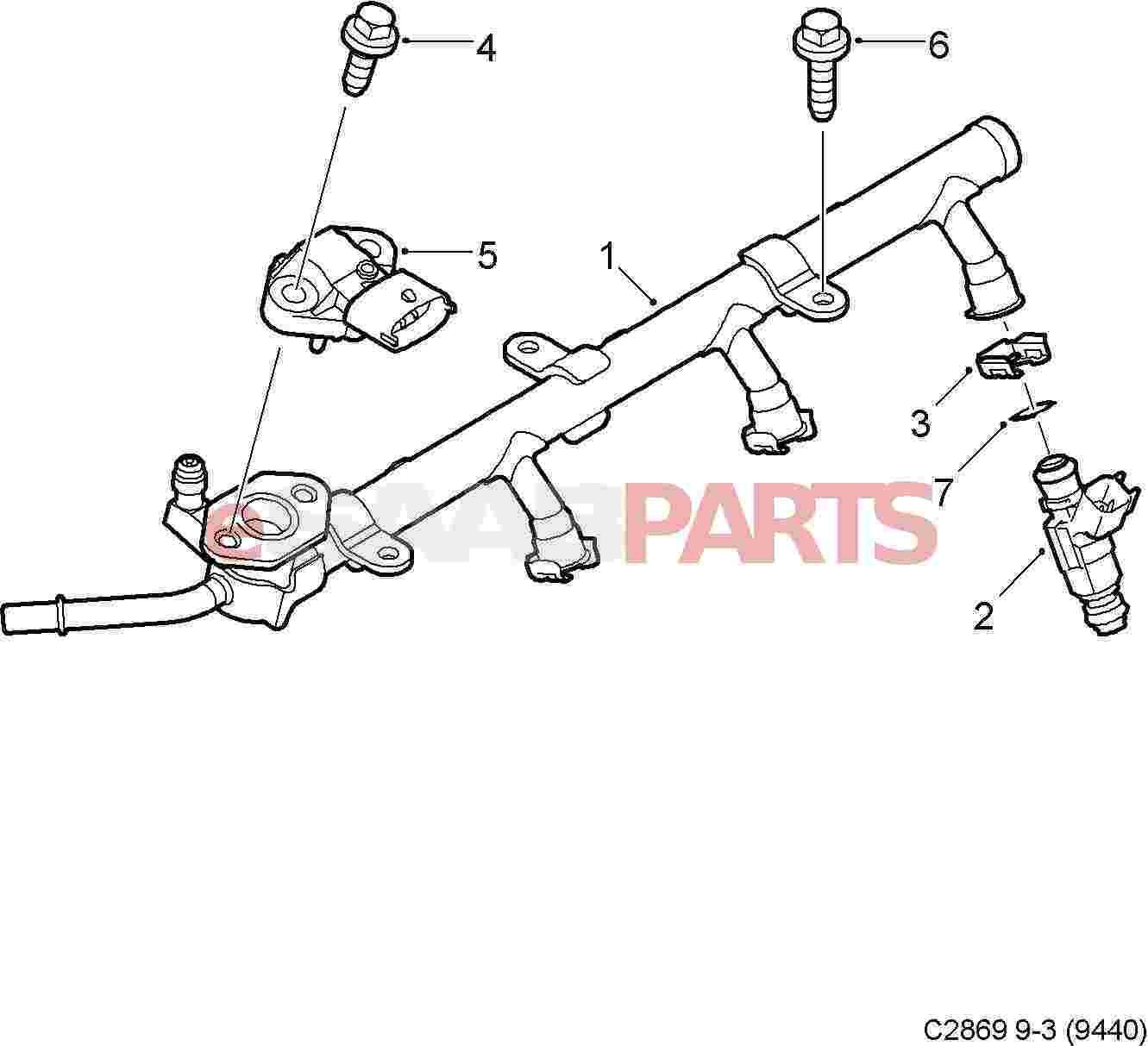 Saab Fuel Pressure Sensor