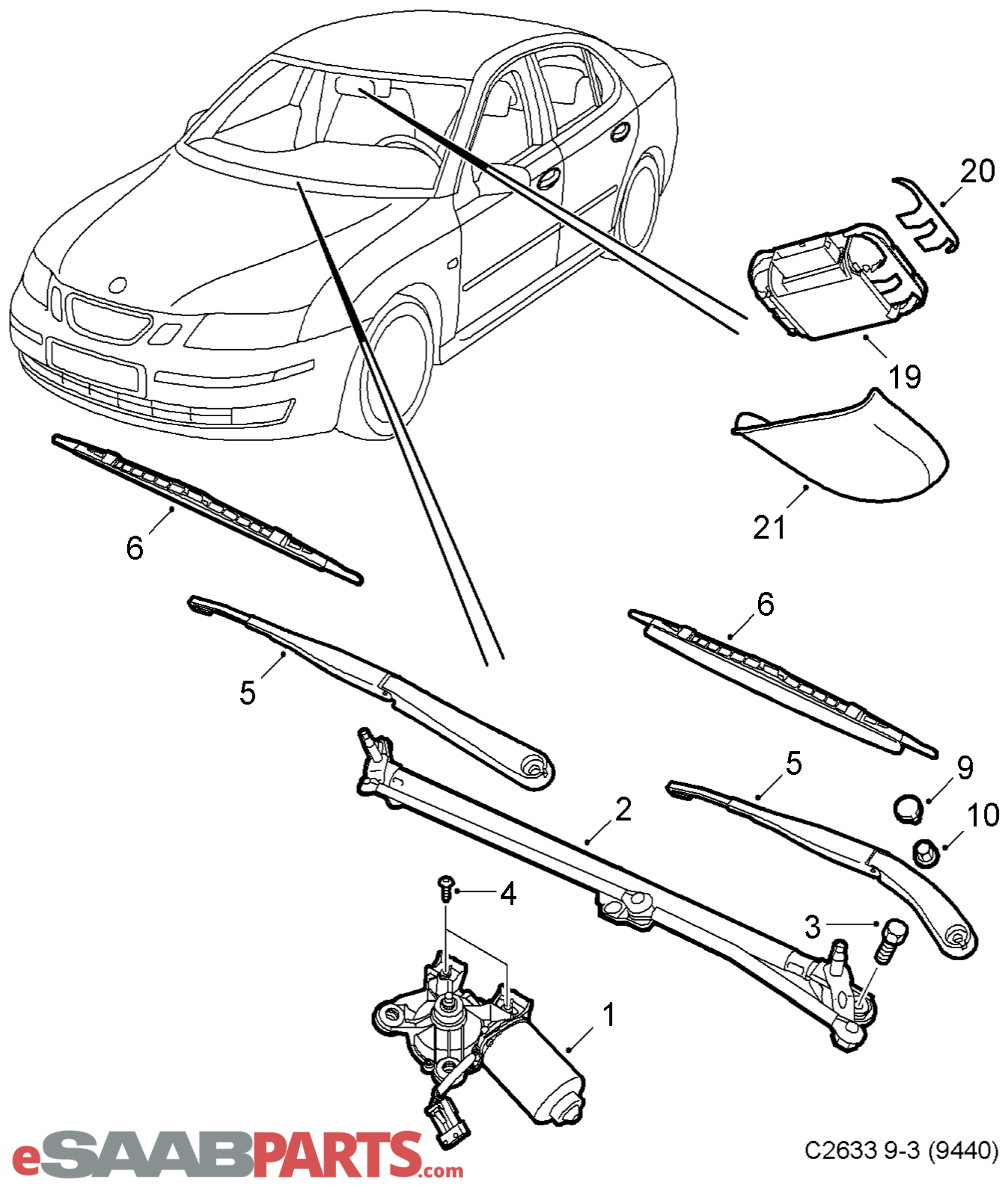 Saab Rain Sensor Windshield Wipers