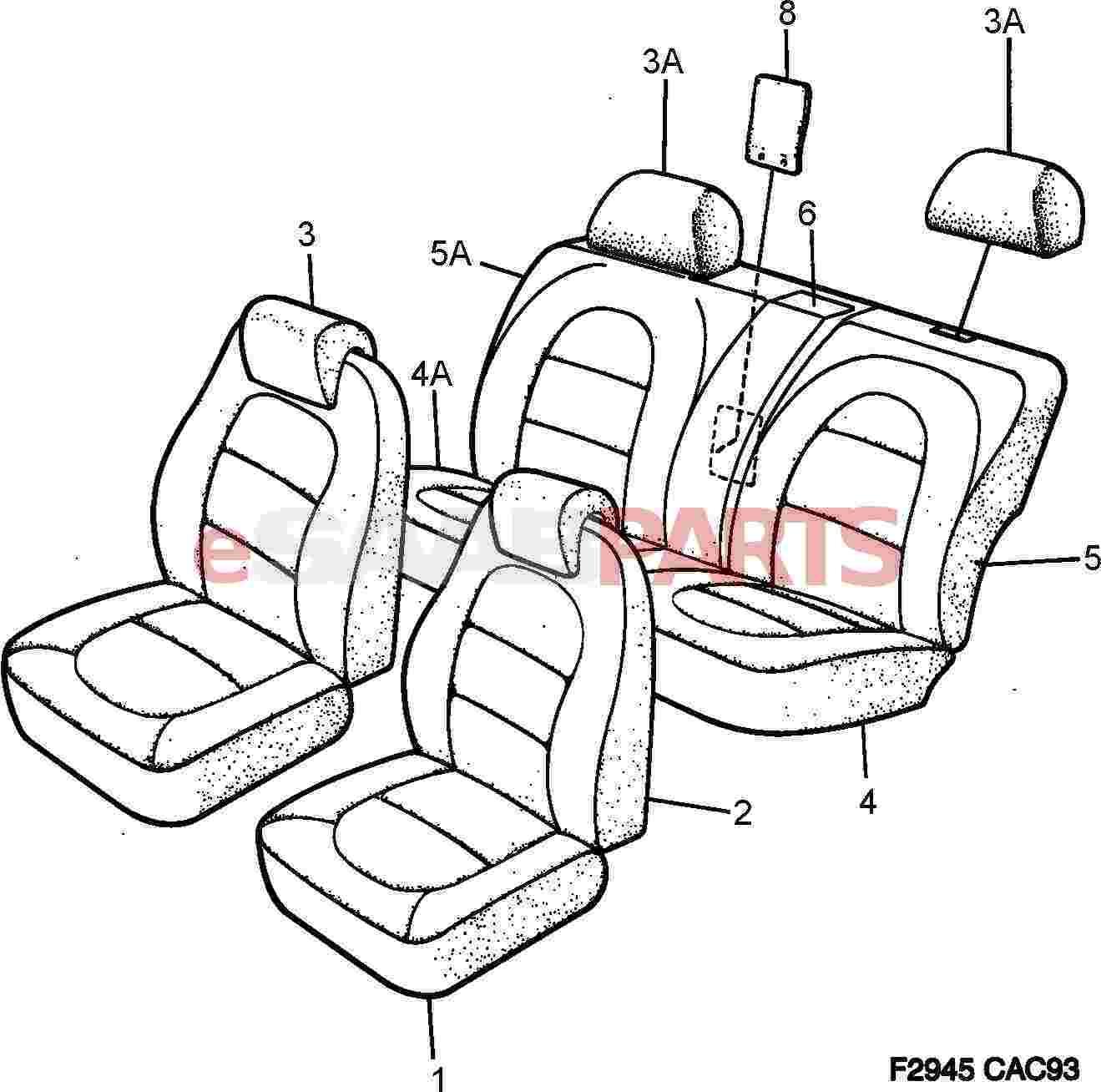 Saab Seat Cover
