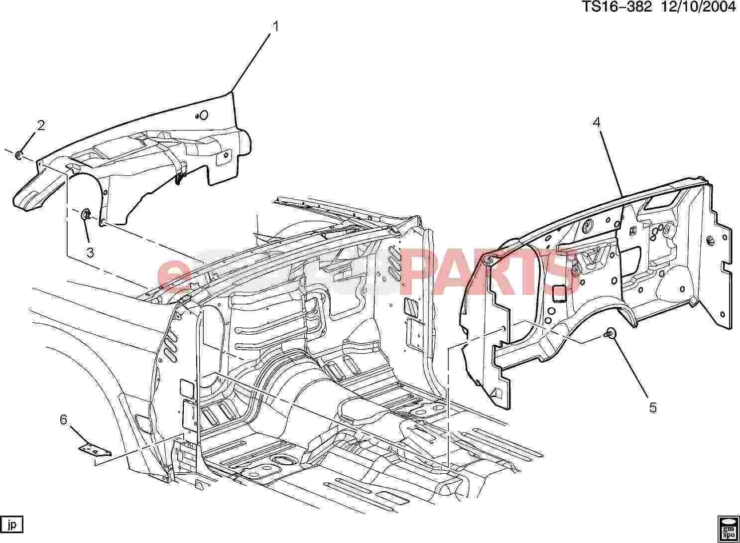 Saab Baffle Body H Plr Lower