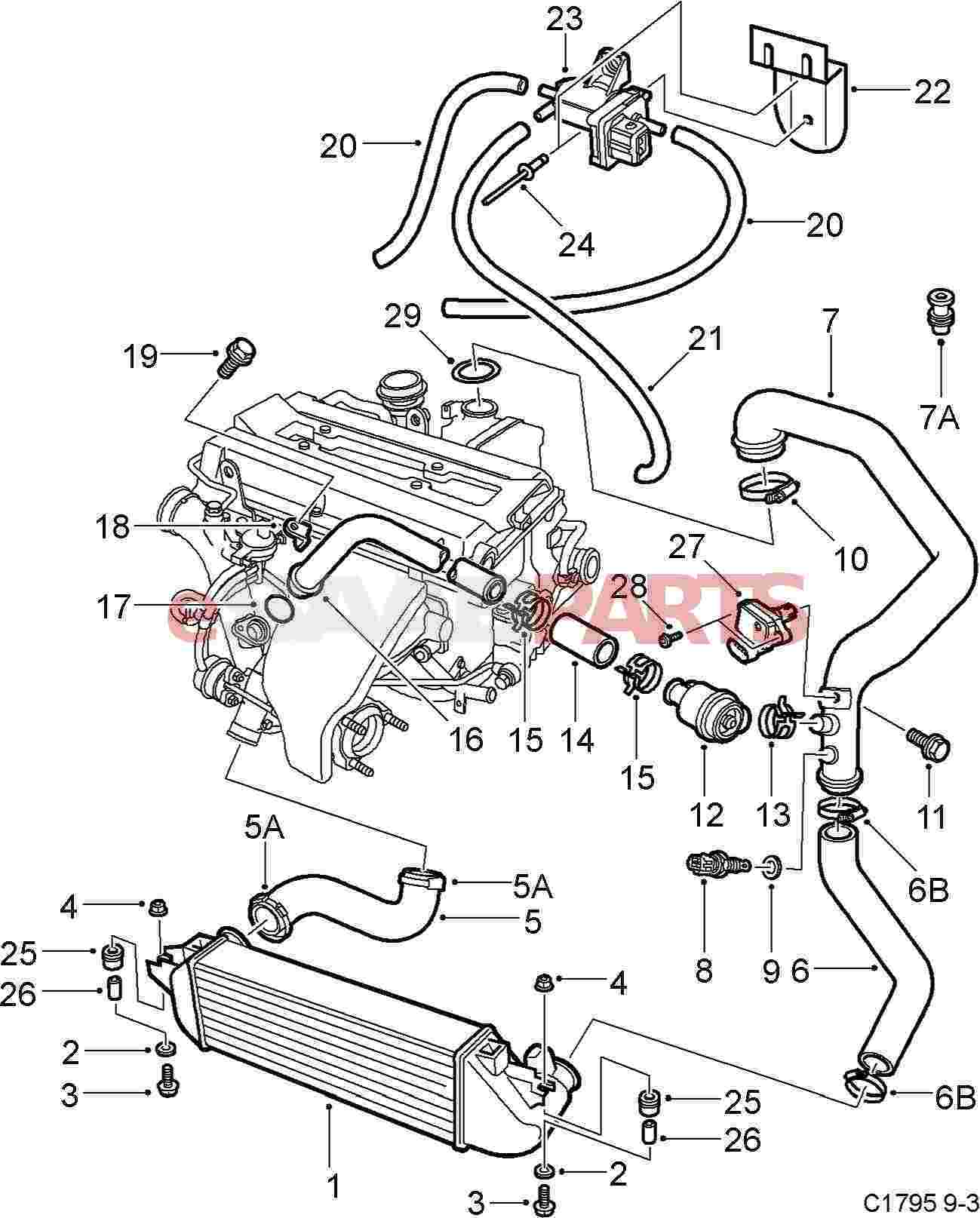 4670352 saab cl genuine saab parts from esaabparts saab 9 3 parts diagram saab