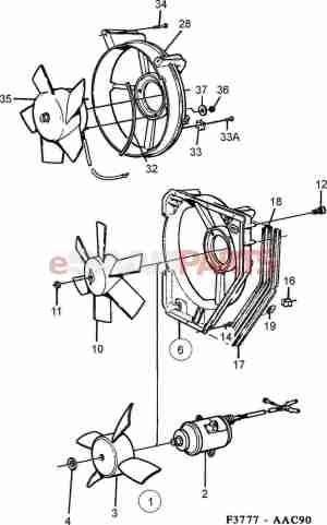 [4027777] SAAB Fan Shroud  Genuine Saab Parts from