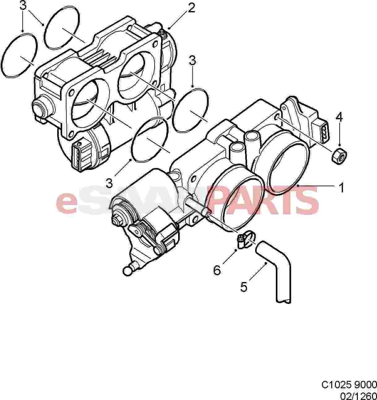 Saab Electronic Throttle Actuator