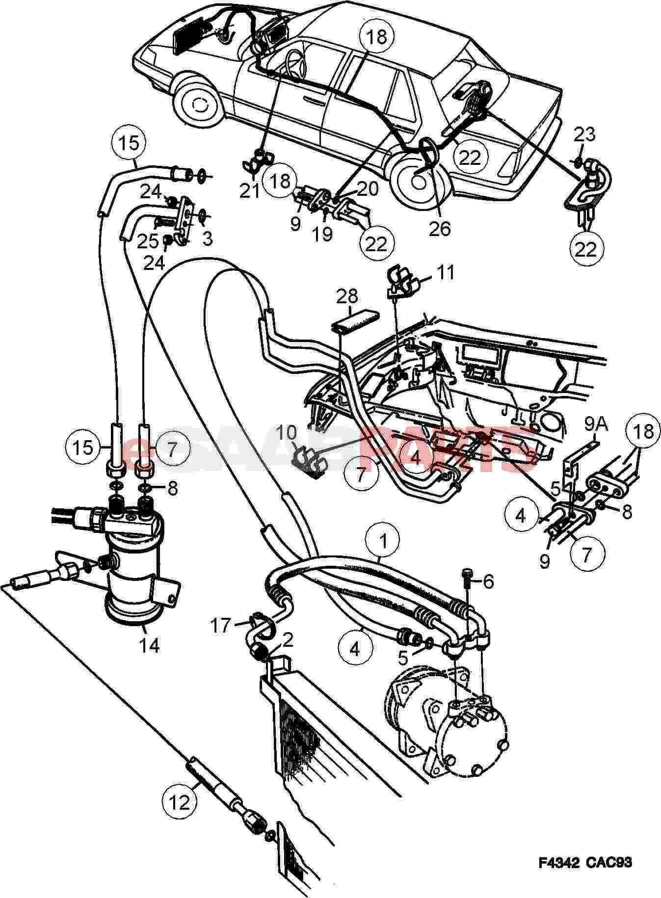 Saab Pipe Bracket