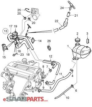 [12793343] SAAB Check Valve  Genuine Saab Parts from eSaabParts
