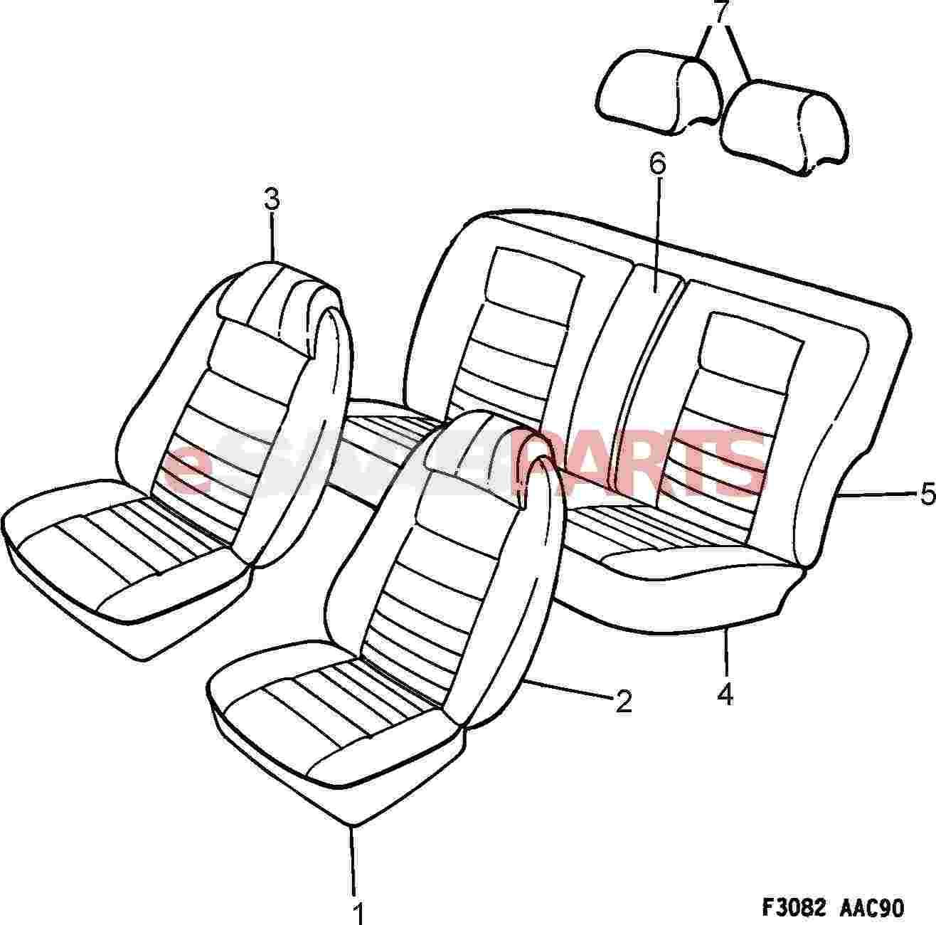 Saab Head Restraint Cover