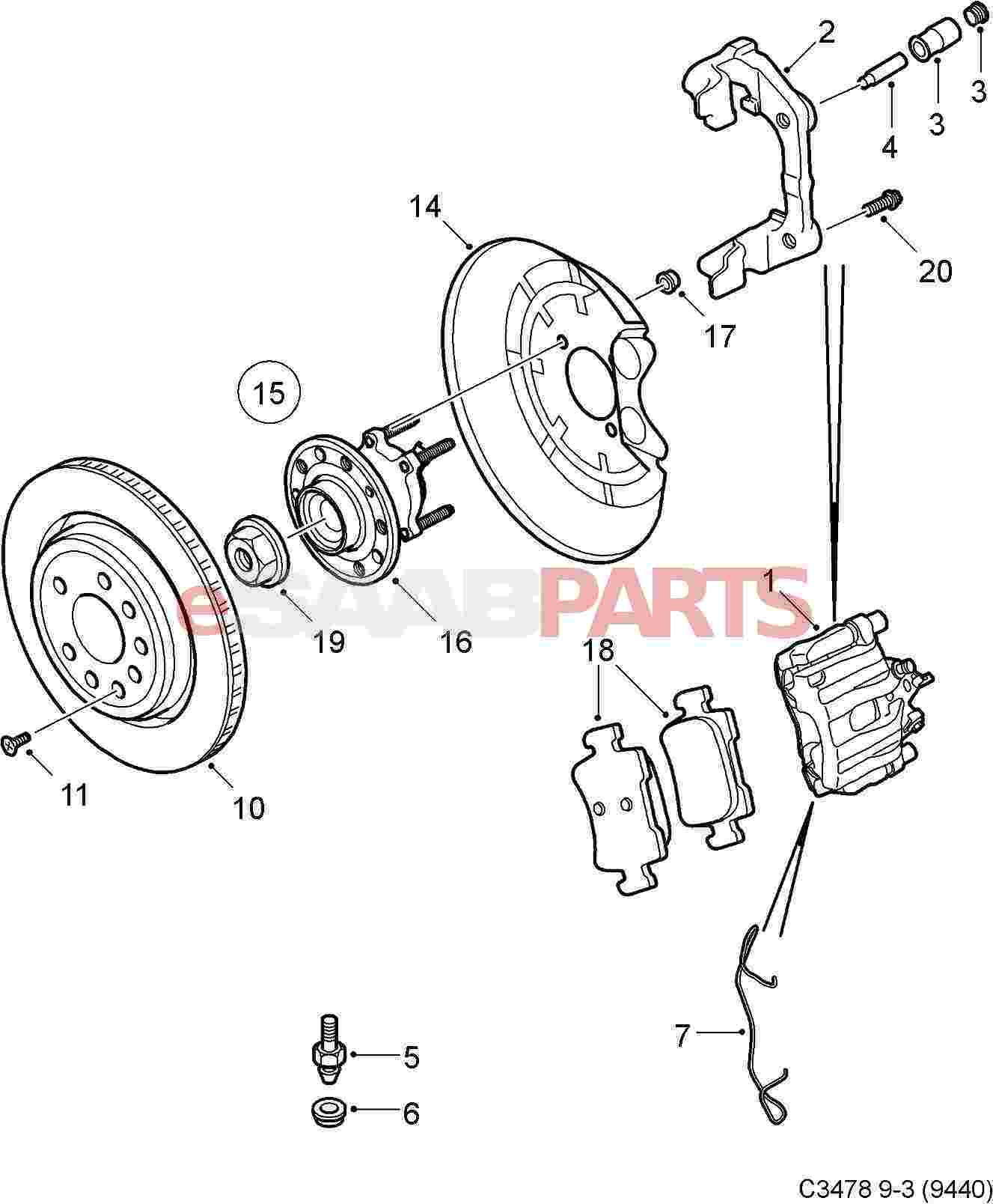 Saab Wheel Bearing Kit