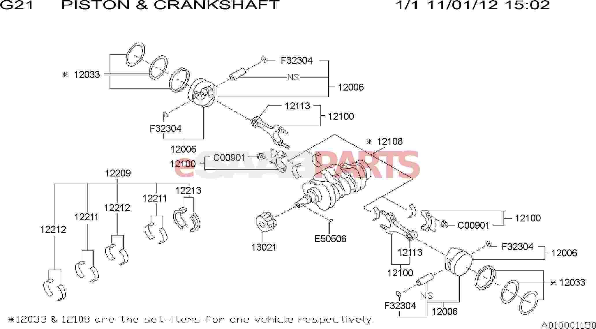 Saab Piston Ring Set
