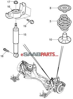 [90538496] SAAB Spring Support  Rear  Genuine Saab Parts
