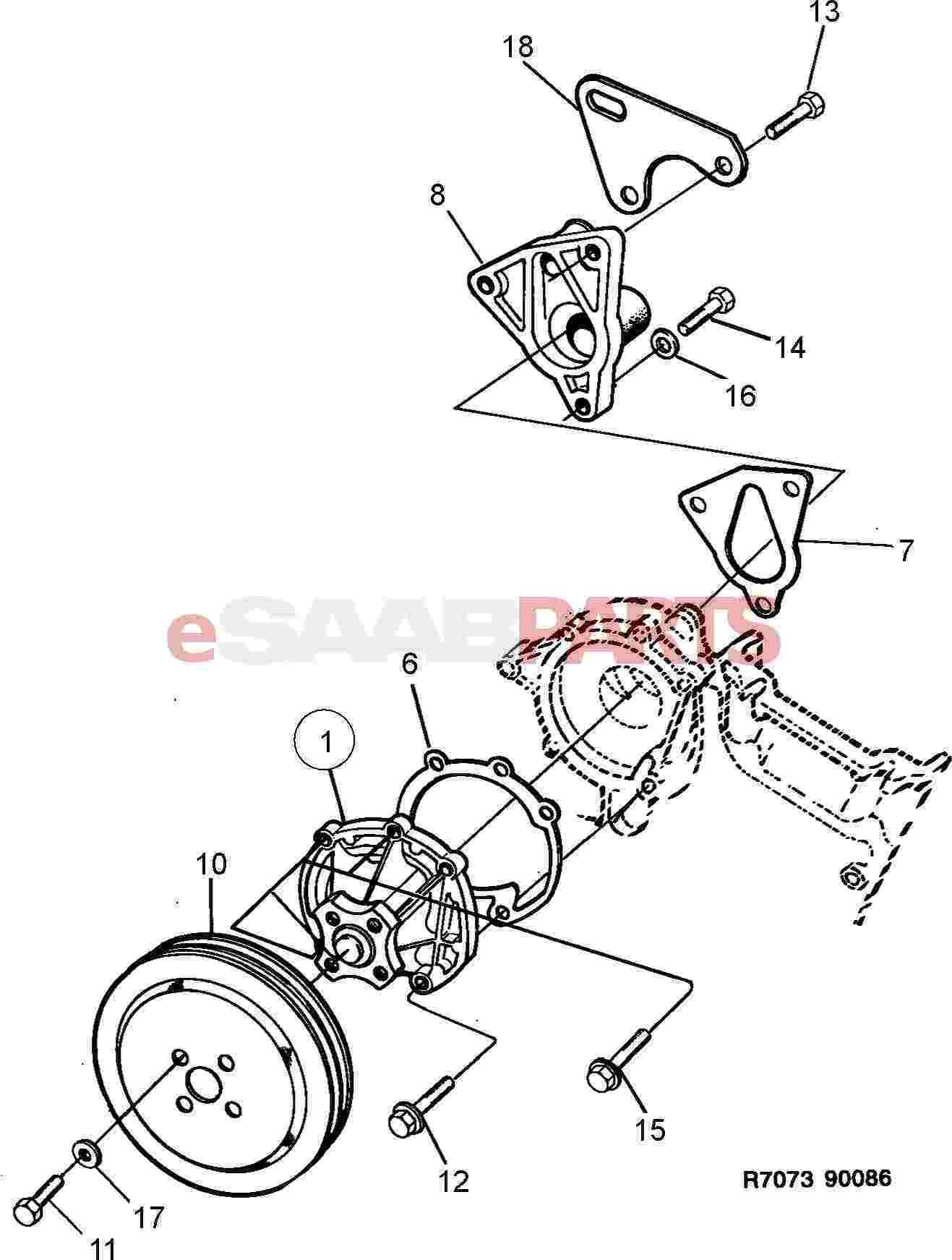 Saab Water Pump
