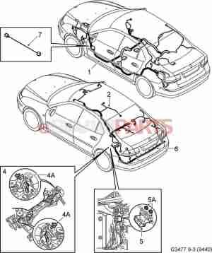 [12774145] SAAB Body Wiring Harness  Genuine Saab Parts