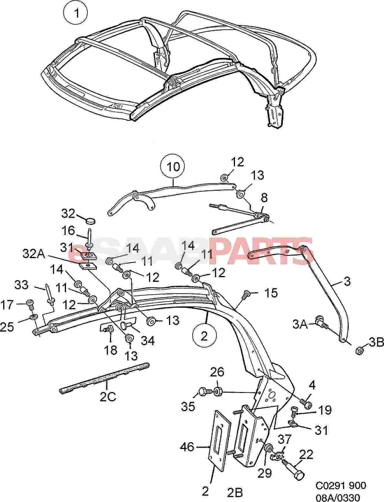 Saab Adjusting Plate