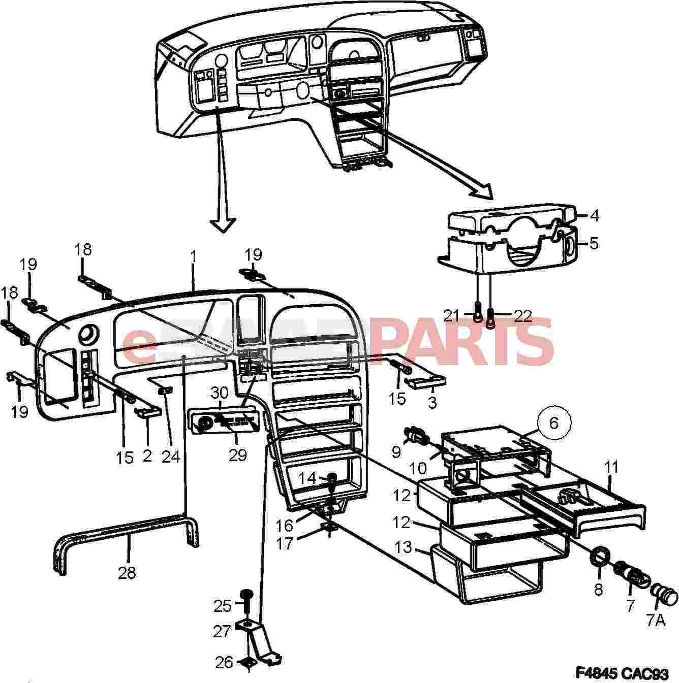 Saab Storage Tray