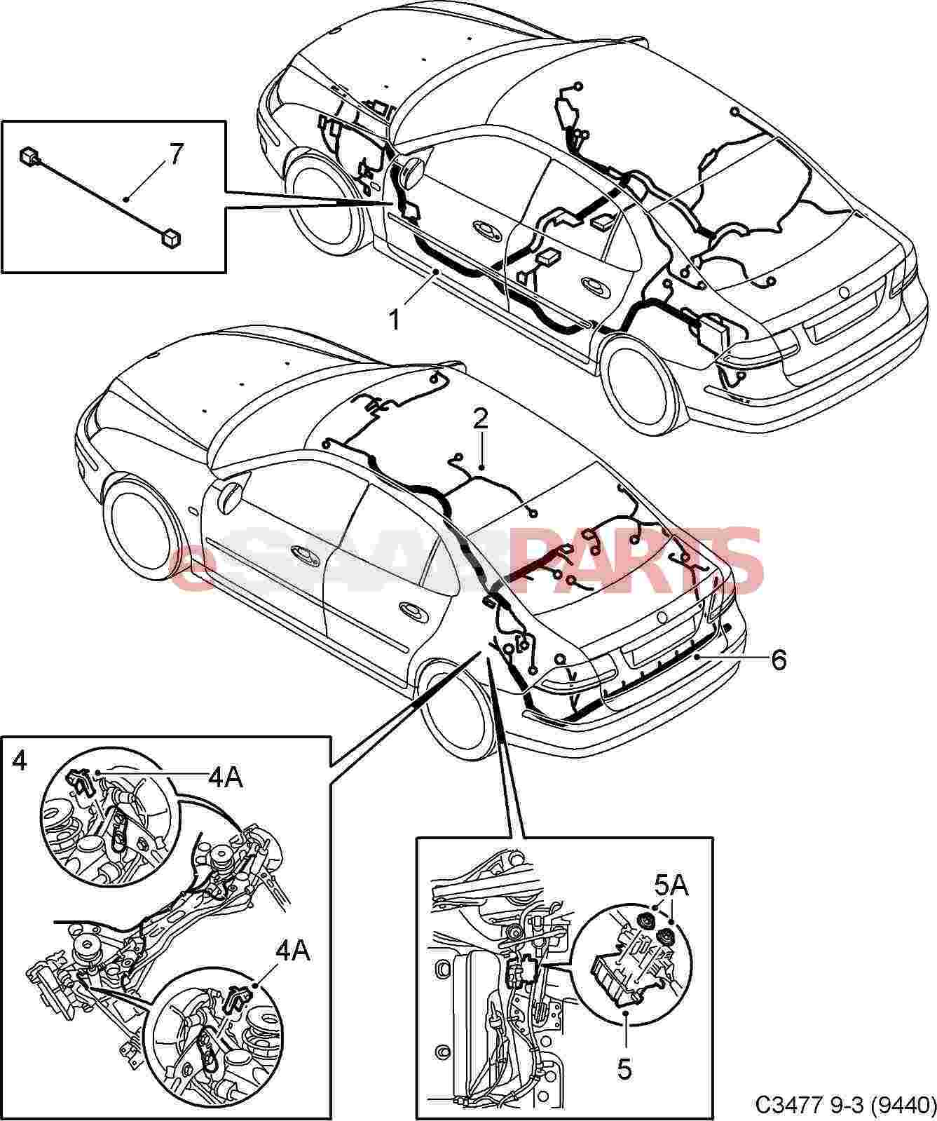 Diagram 9 3 Se Saab Electrical Wiring Diagrams Full