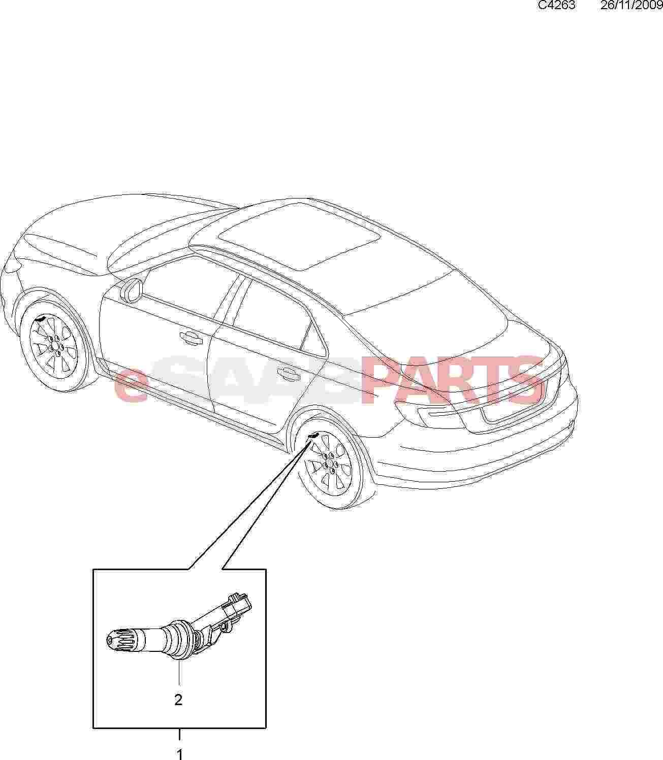 Saab Tire Pressure Sensor