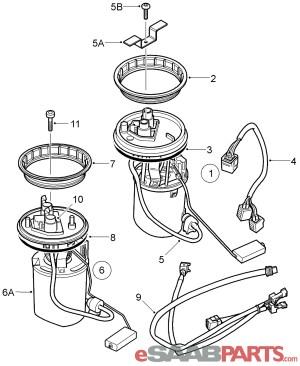 [30587077] SAAB Fuel Pump (19982005 95)  Genuine Saab