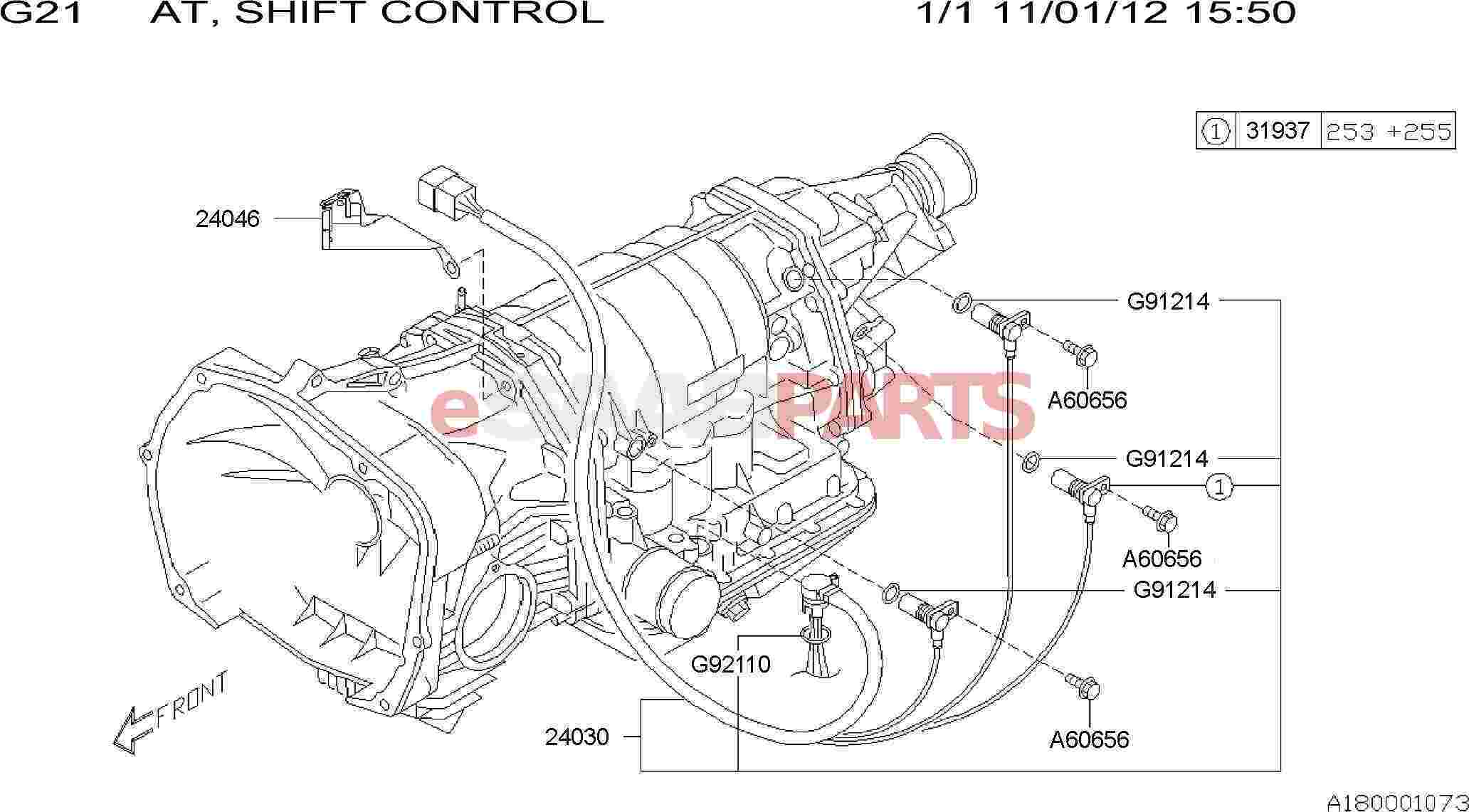 Saab Sensor And Harness Assembly Transmission