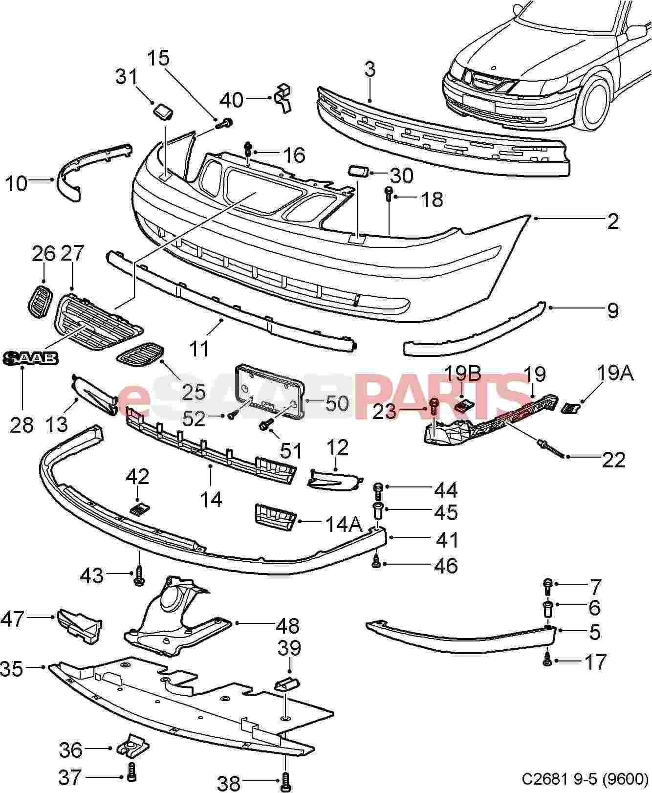 Saab Front Lip Spoiler