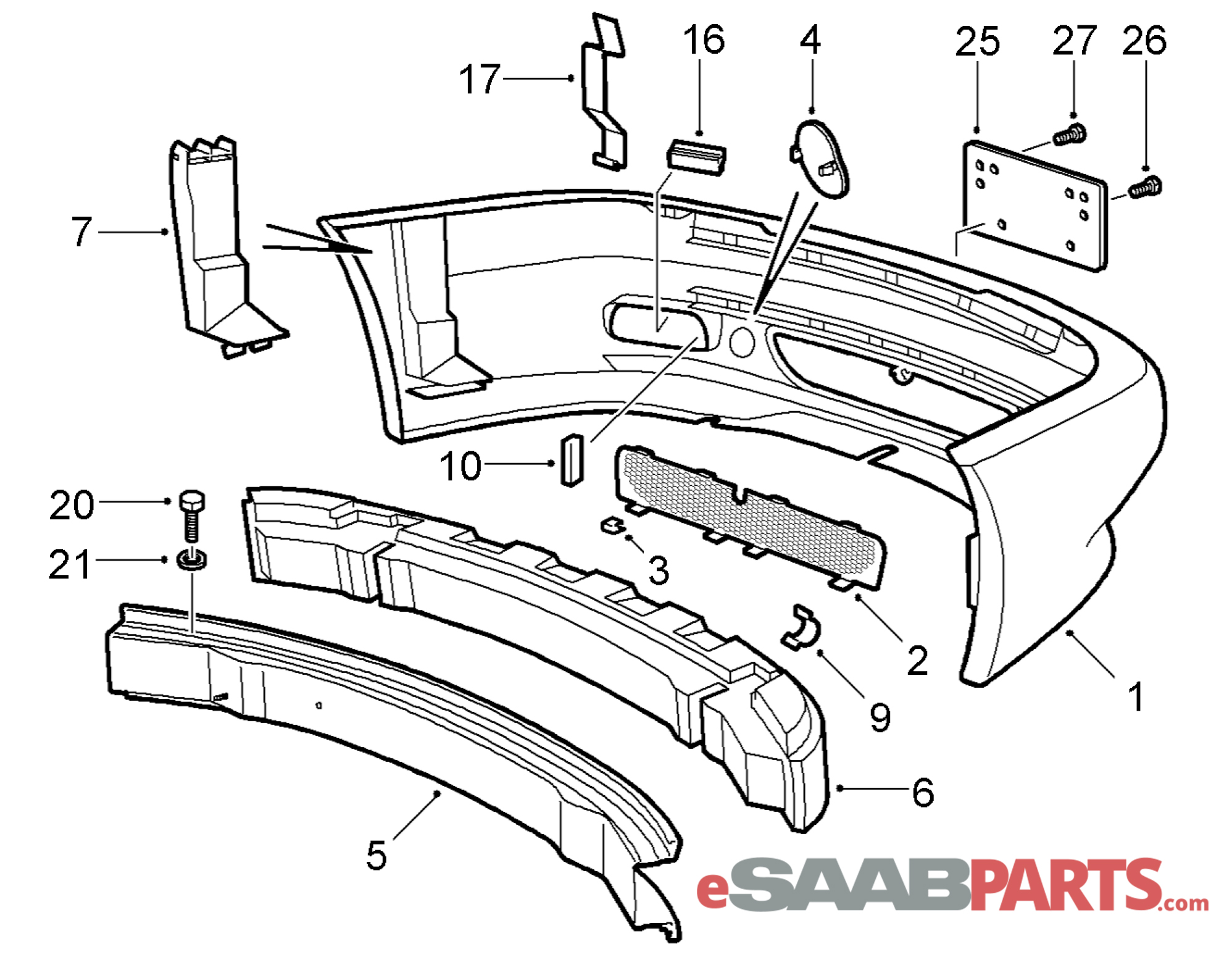 Saab Viggen Front Bumper Cover