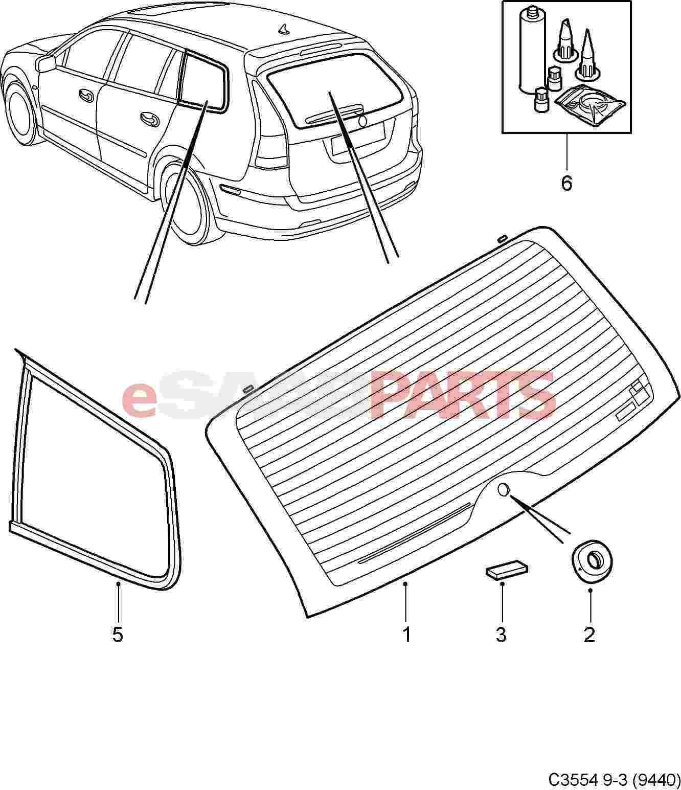 Saab Adhesive Kit