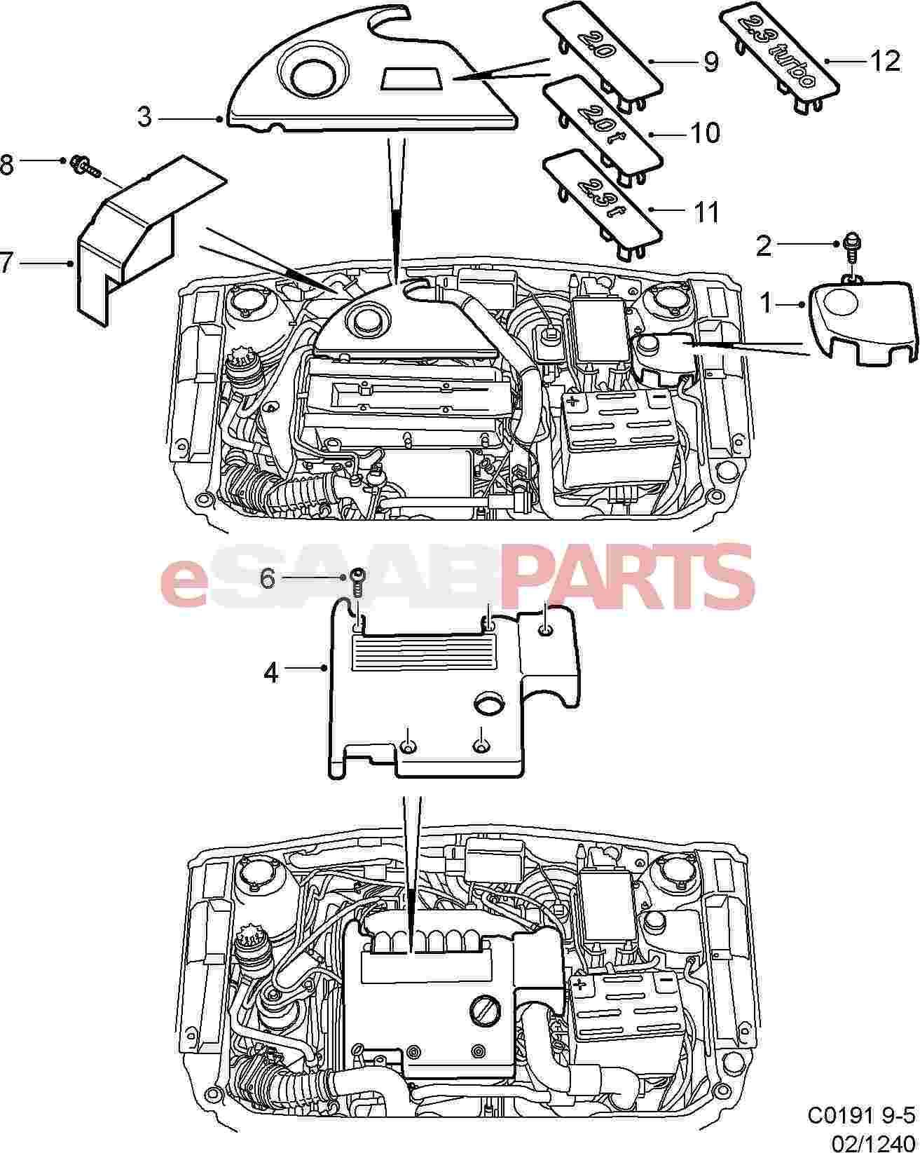 Saab Engine Cover